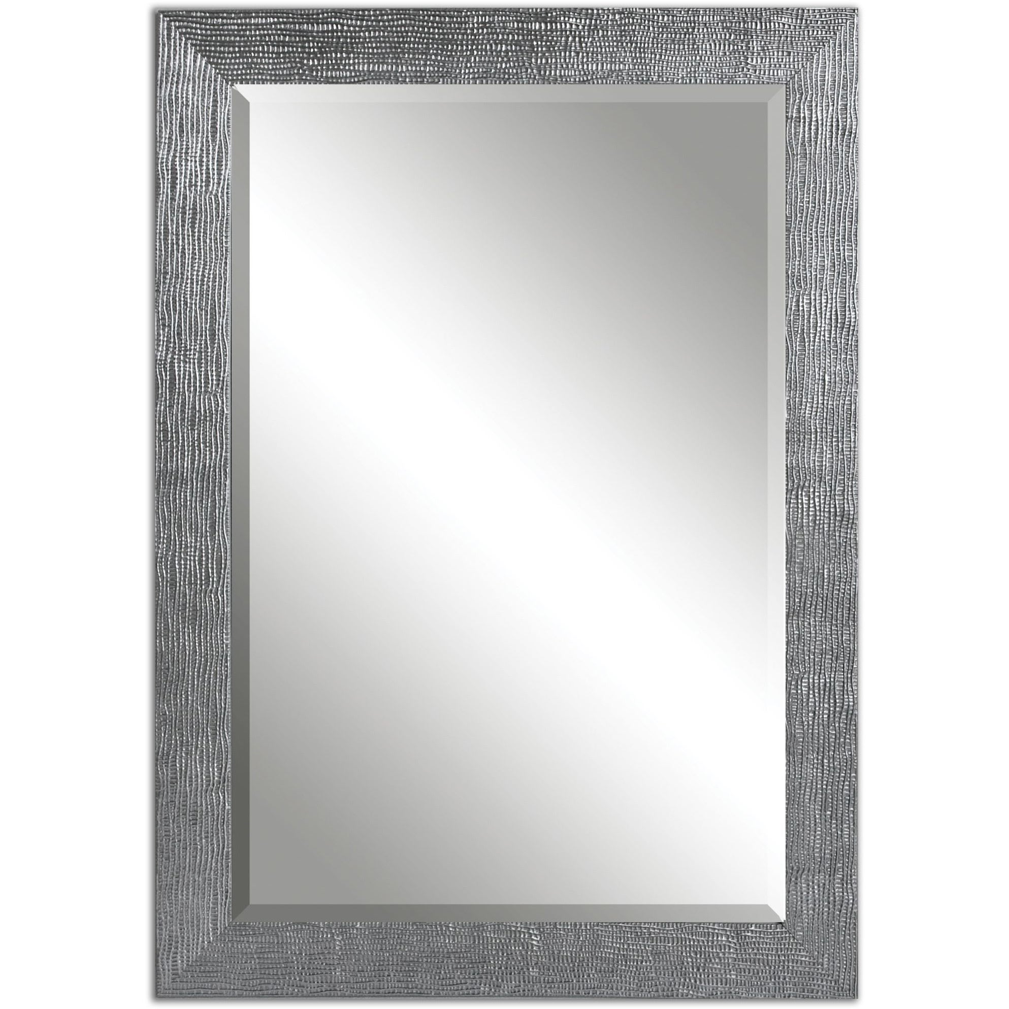 Shop Carbon Loft Gibbon Silver Bevelled Mirror - Free Shipping Today ...
