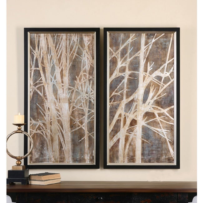 Uttermost Grace Feyock Twigs Hand Painted Oil Wall Art Set Of 2 Free Shipping Today 9729695