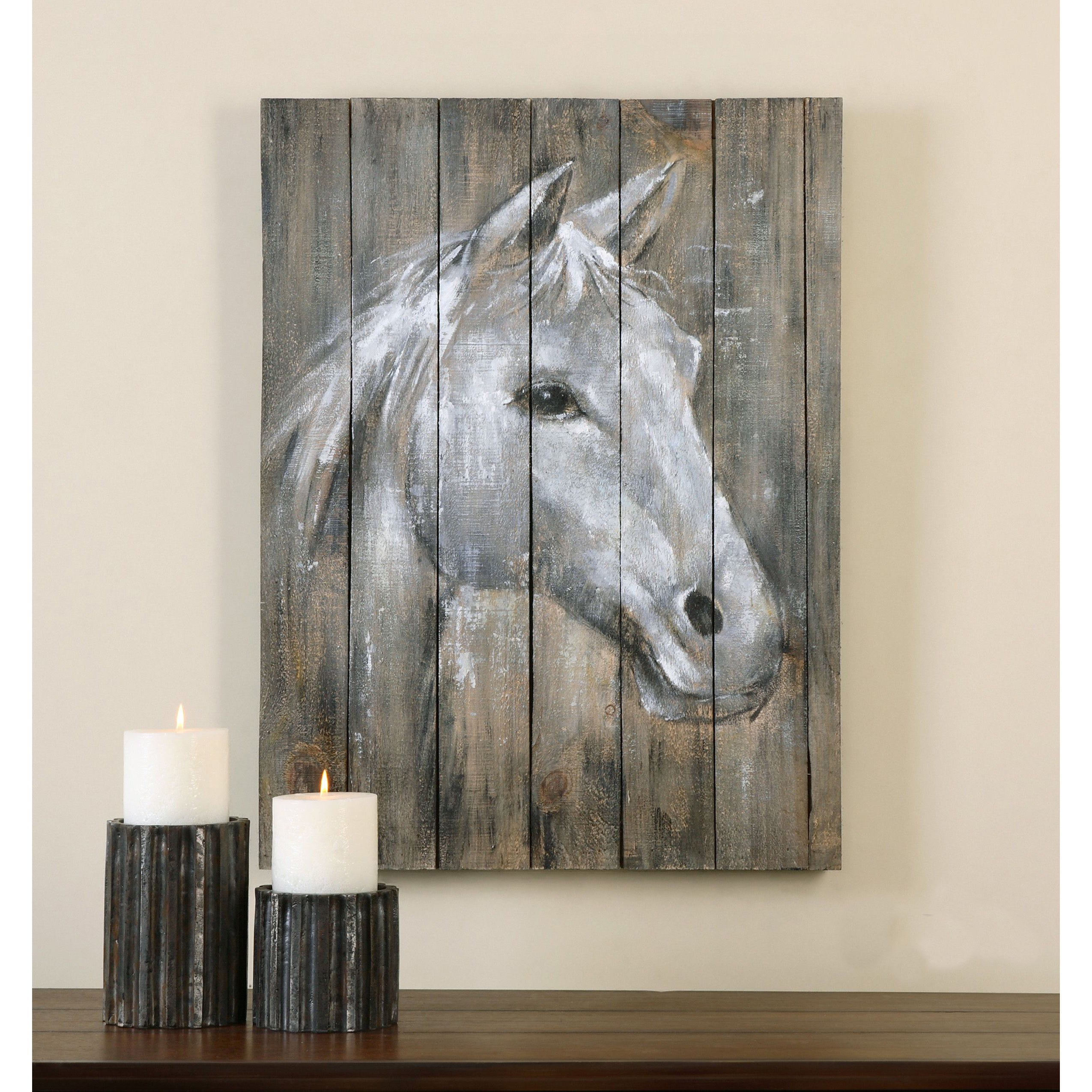 Shop Uttermost Grace Feyock u0027Dreamhorseu0027 Hand Painted Wood Wall Art - Free Shipping Today - Overstock.com - 9729701 & Shop Uttermost Grace Feyock u0027Dreamhorseu0027 Hand Painted Wood Wall Art ...