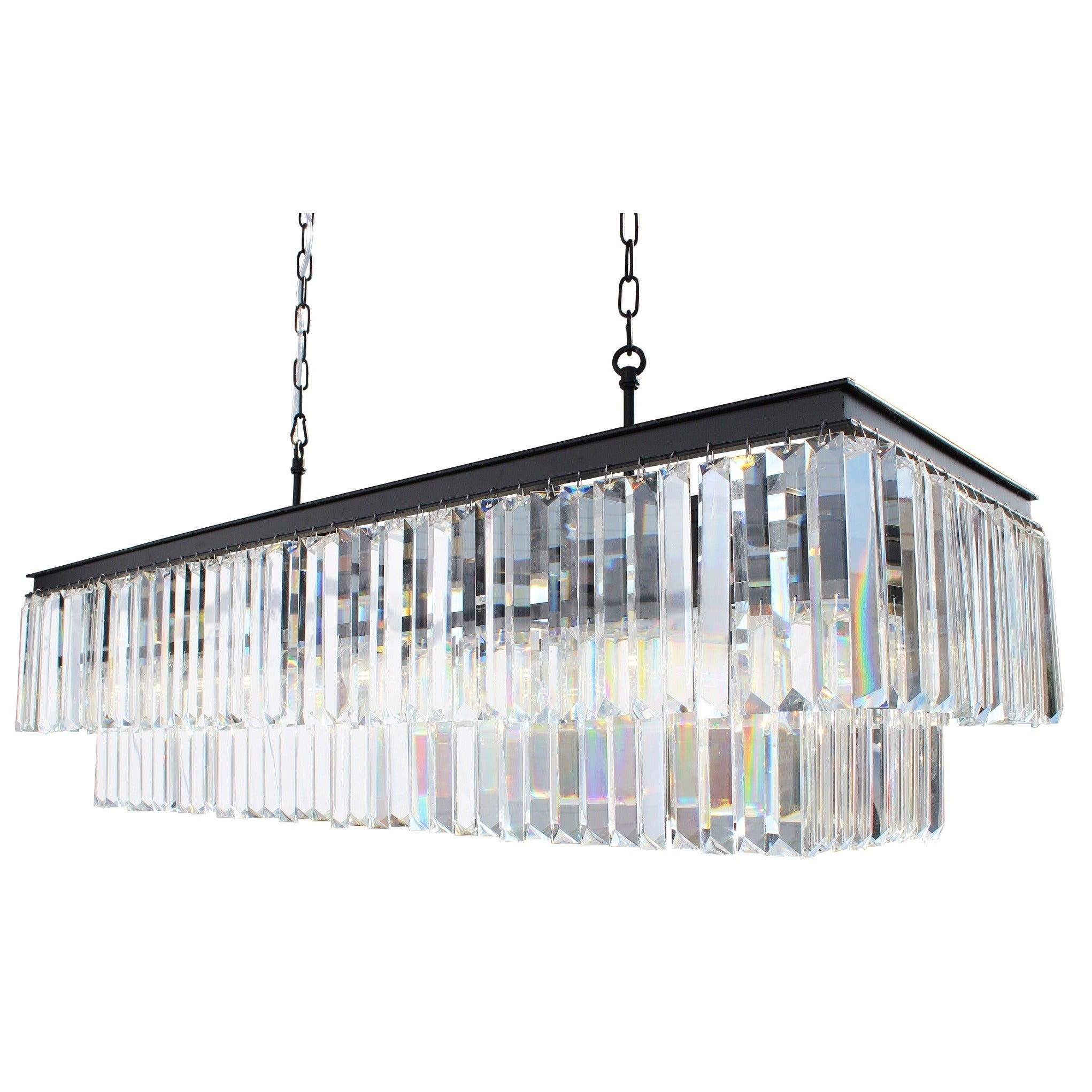 rectangle linear crystal lighting new intended ebay stylish chandelier throughout connection amazing ella com orleans fulczyk by for home rectangular