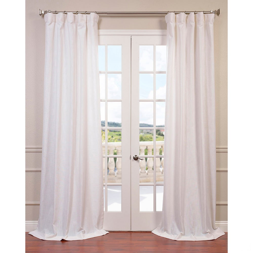 drapery linen white listing faux curtain sheer gallery il panel curtains fullxfull photo