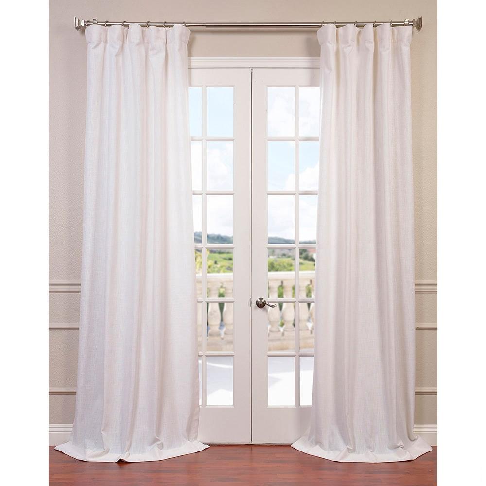 white textured greyish plaid versailtex panel h decor collections blackout premier home off curtain faux linen curtains