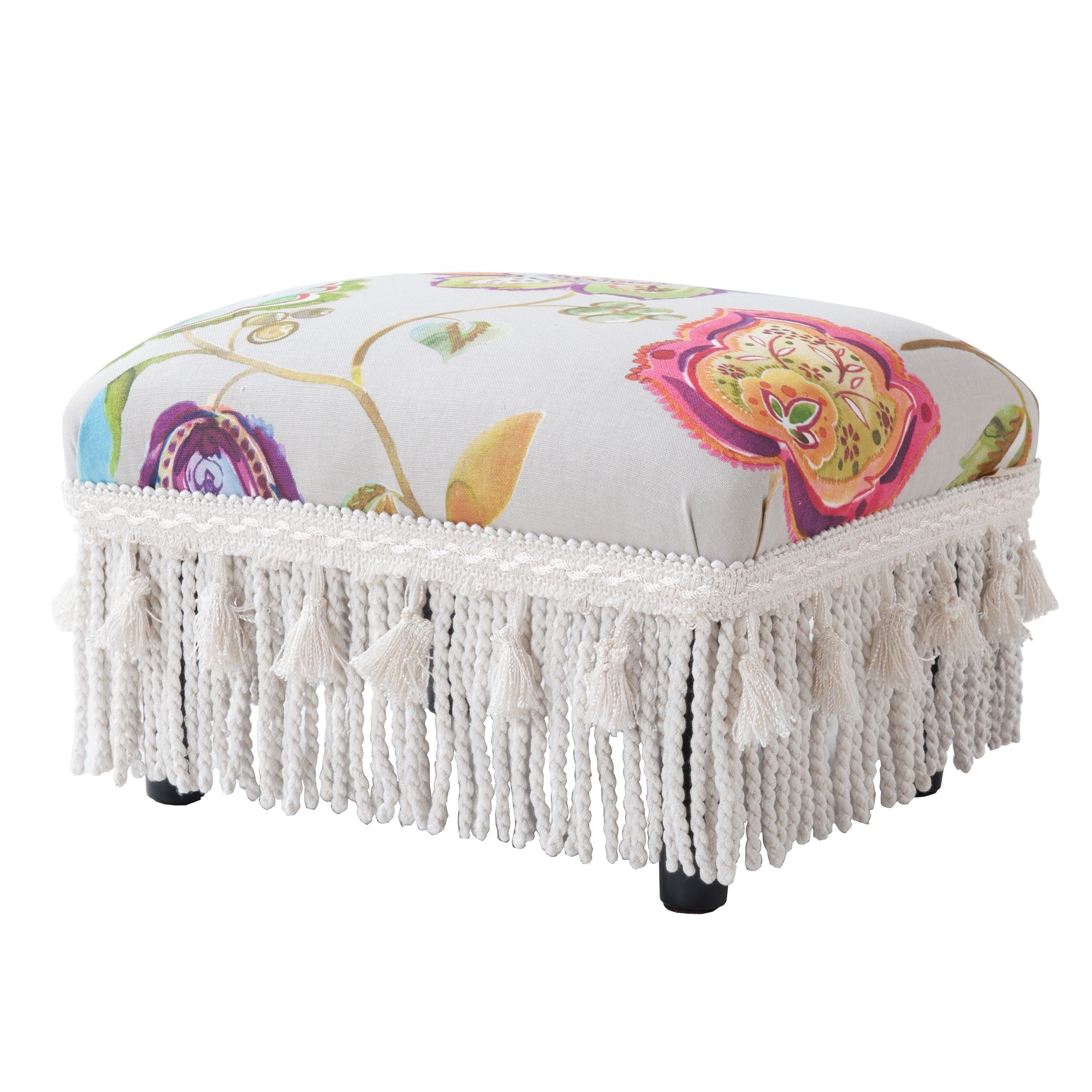 Jennifer Taylor Fiona Traditional Decorative Footstool  Free Shipping Today