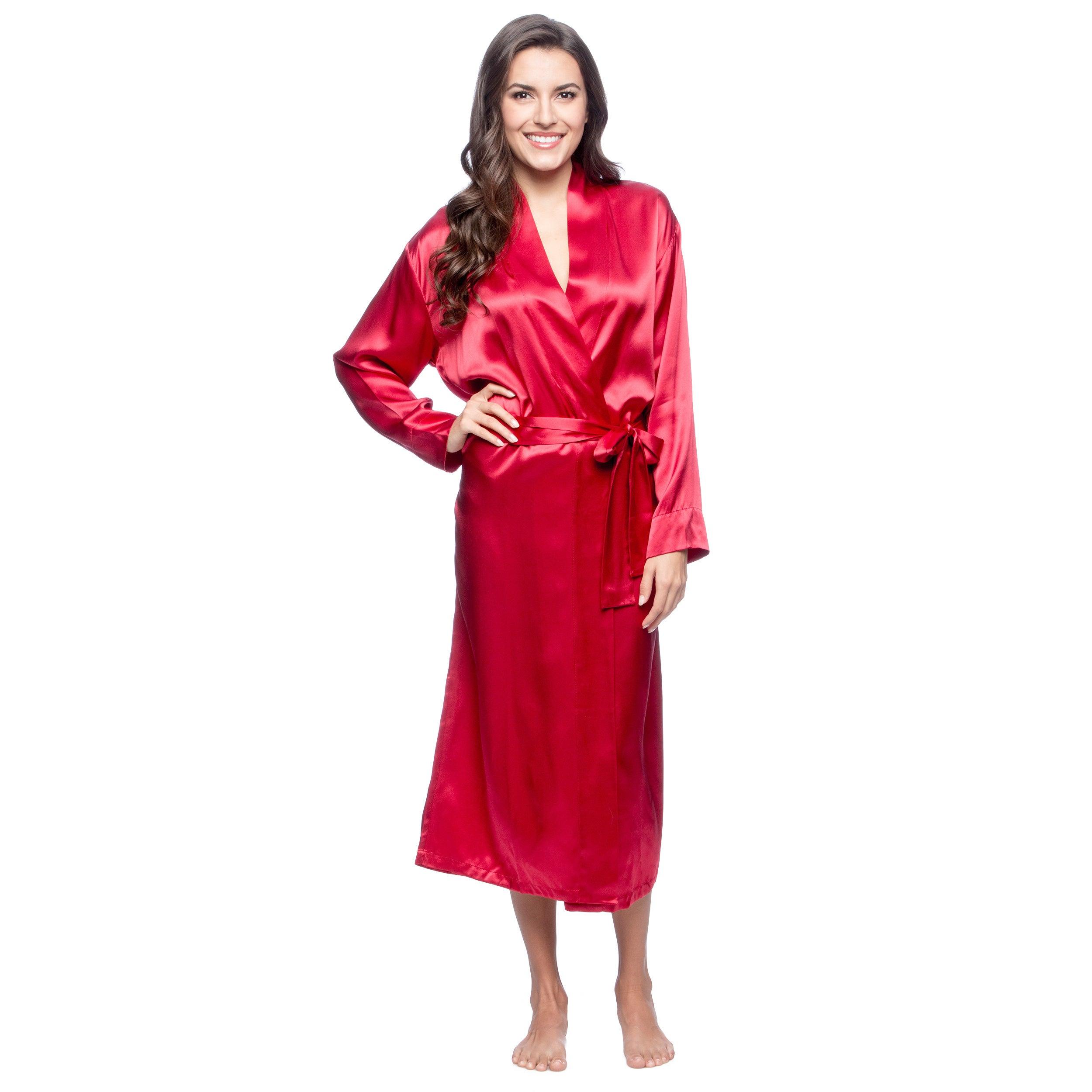 02f5ad1a63db Shop Women s Silk Aus Vio Silk Robes - Free Shipping Today ...