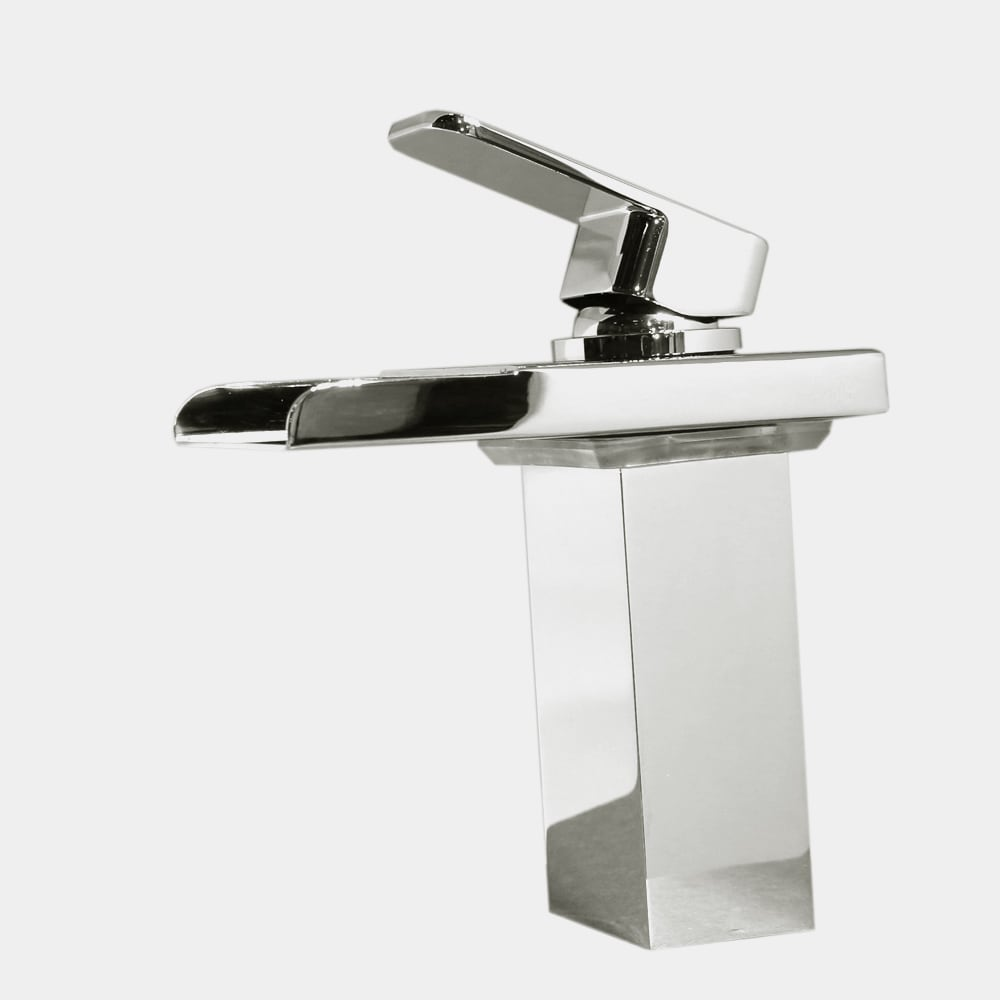 Kokols LED Chrome Color Changing Vessel Sink Waterfall Faucet - Free ...