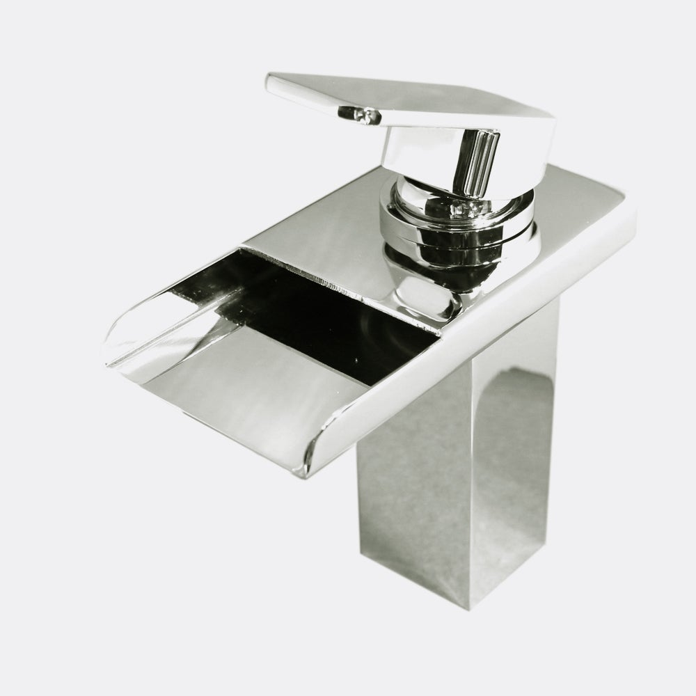 Shop Kokols LED Chrome Color Changing Vessel Sink Waterfall Faucet ...