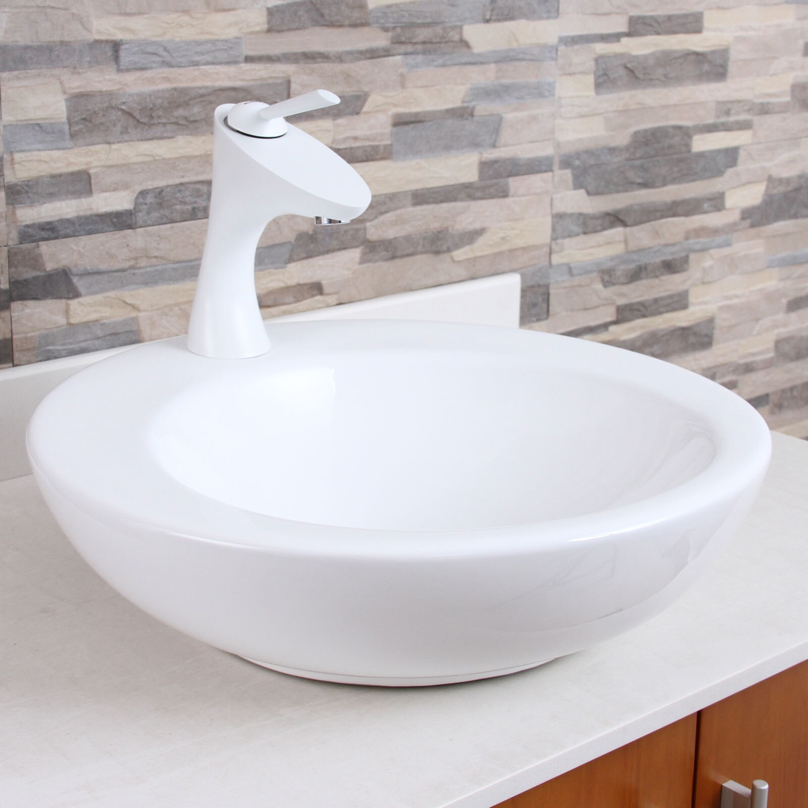 Shop Elimax F662013WH White Bathroom Sink Faucet - Free Shipping ...