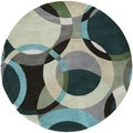 Hand-Tufted Brantford Geometric Indoor Rug (4' Round)