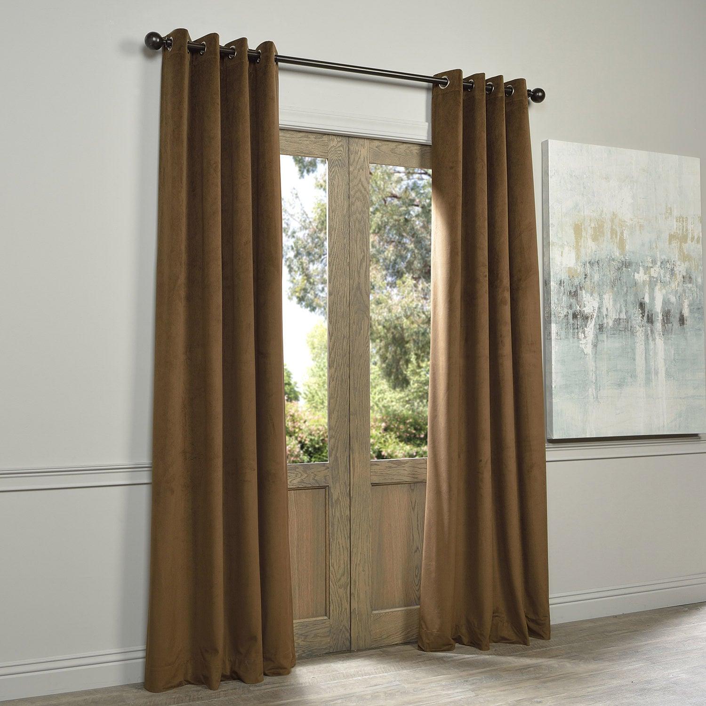 Shop Exclusive Fabrics Signature Velvet Grommet 120 Inch Blackout Curtain Panel