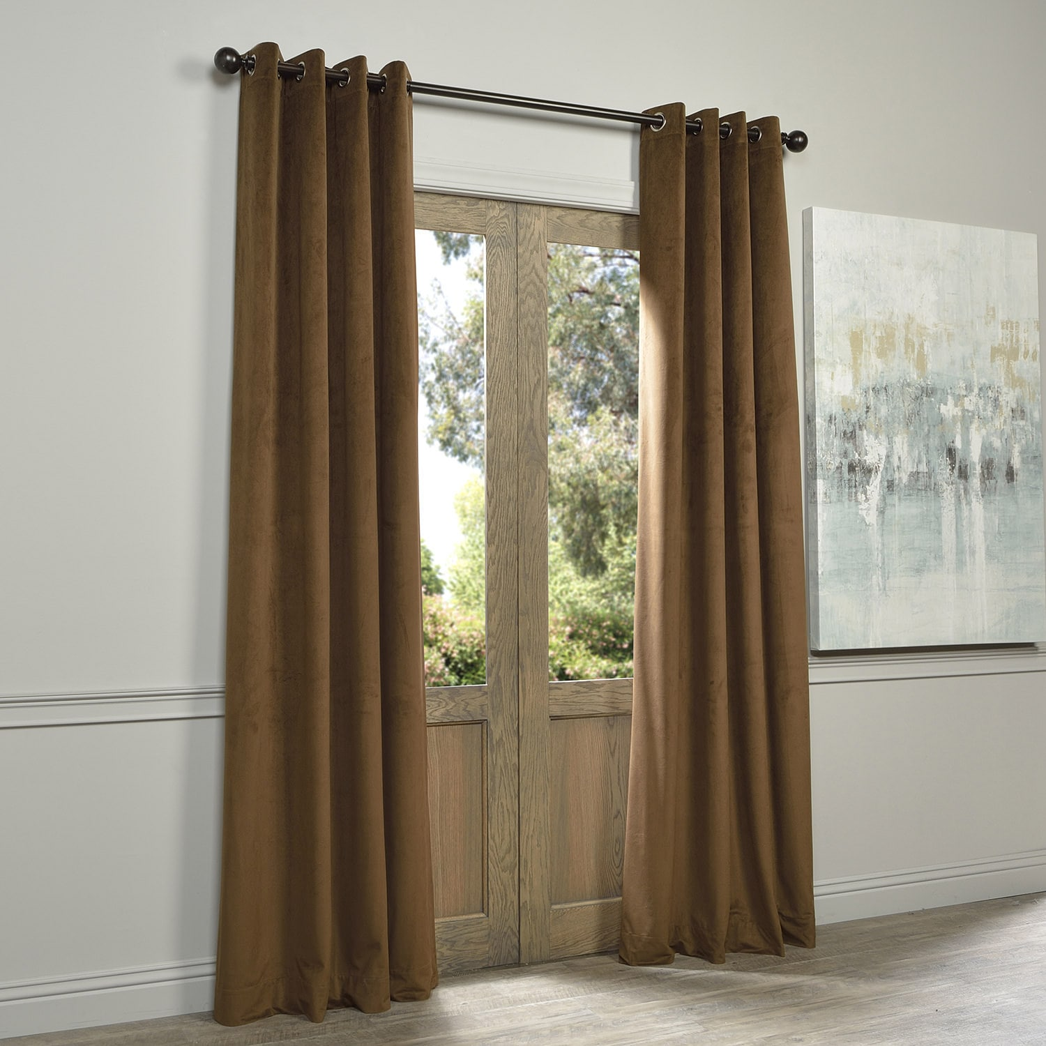 Eff Signature Velvet Grommet 108 Inch Blackout Curtain Panel 50 X On Free Shipping Today 9740201