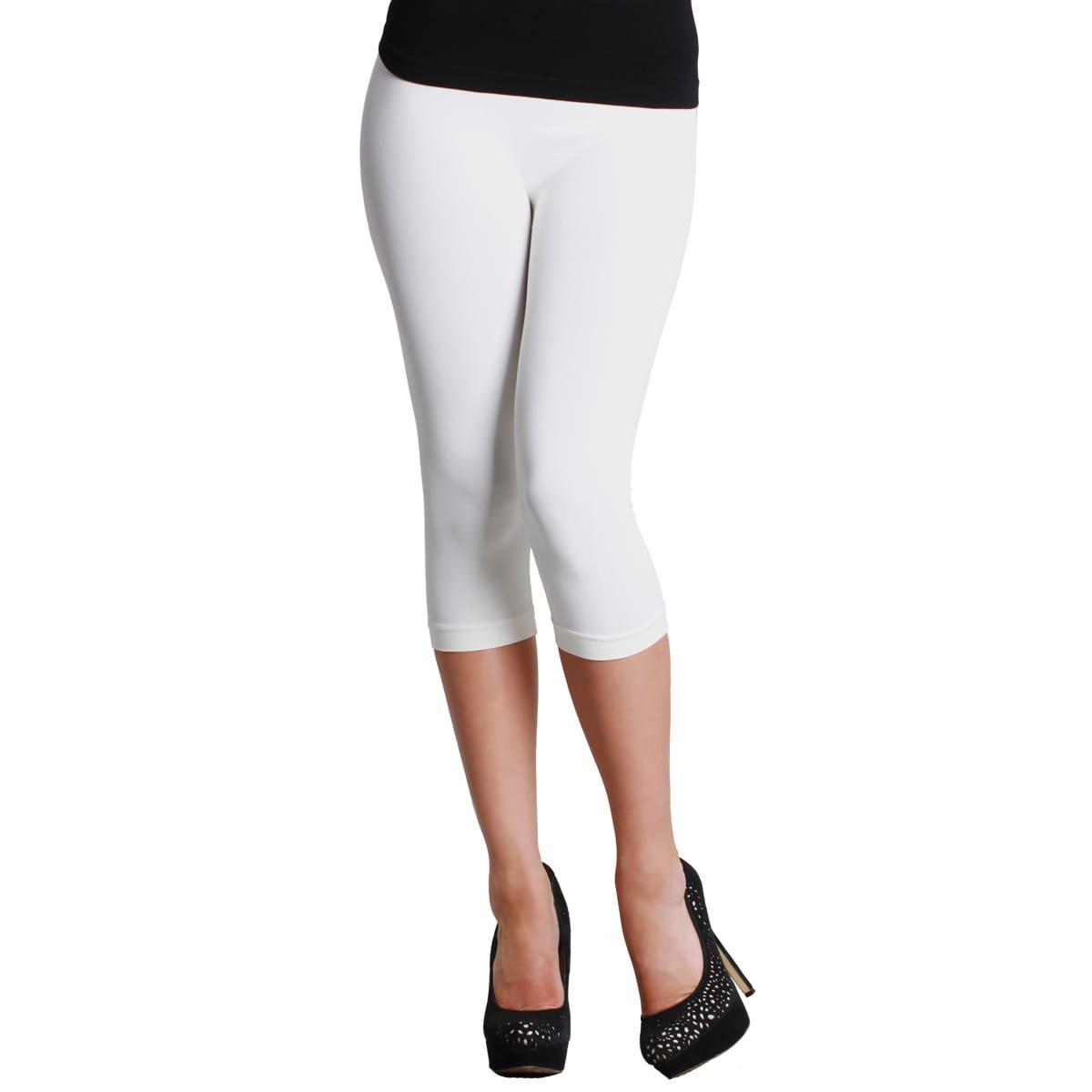 a9e36f6a3b3e2 Shop NikiBiki Women's Plain Jersey Capri Leggings - Free Shipping On Orders  Over $45 - Overstock - 9741269