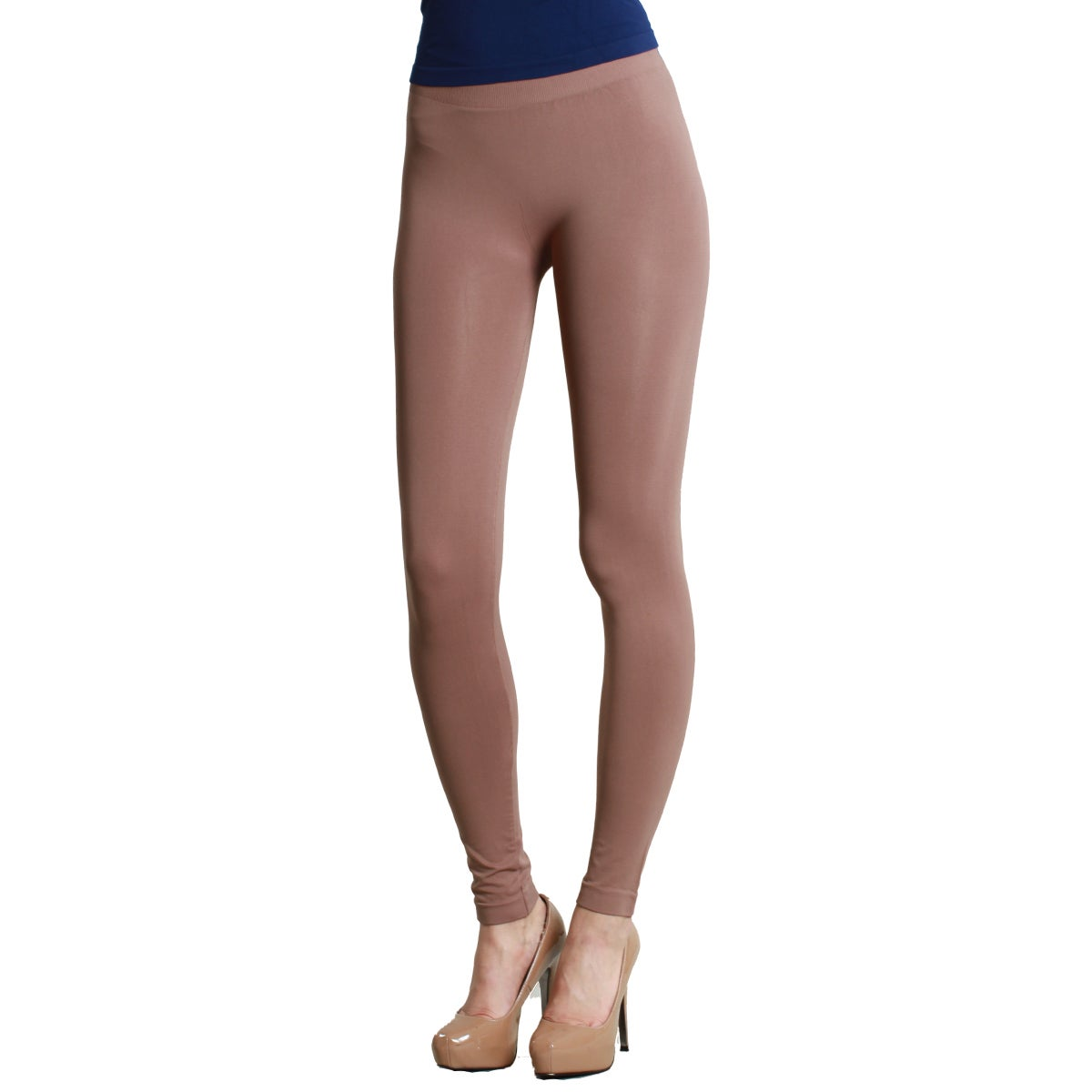 5d04cf069ae9a6 Shop Nikibiki Women's Plain Jersey Ankle Length Leggings - Free Shipping On  Orders Over $45 - Overstock - 9741305