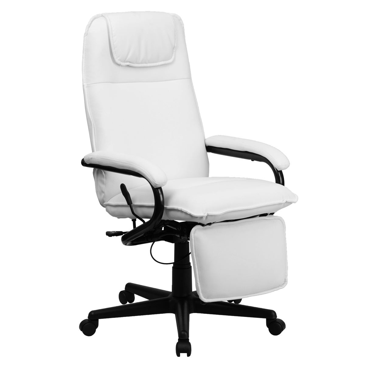 w chair heated recliner footrest office massage reclining leather