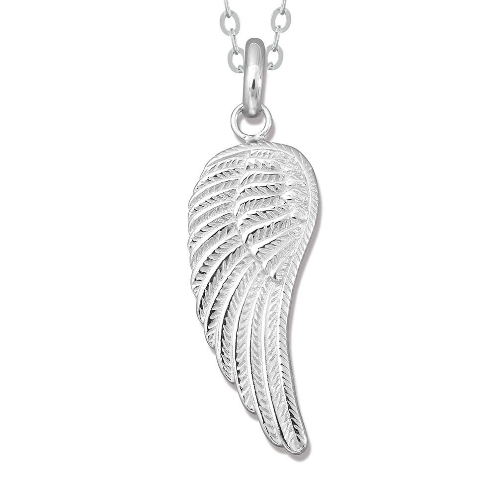 wing bling silver pendant jewelry necklace heart mini feather inch angel n sterling featherl