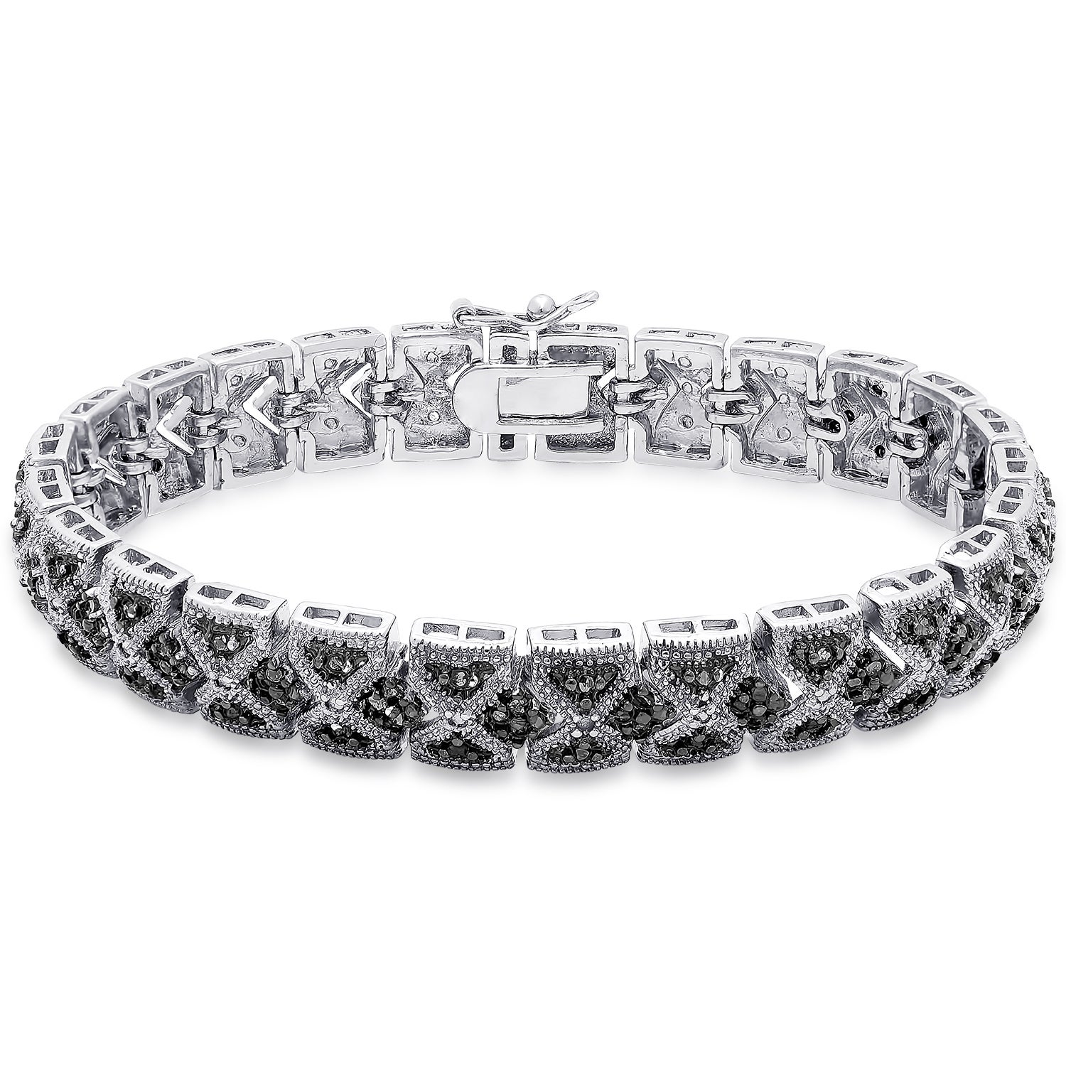 diamond carat photography tennis jewelry stock bracelet black
