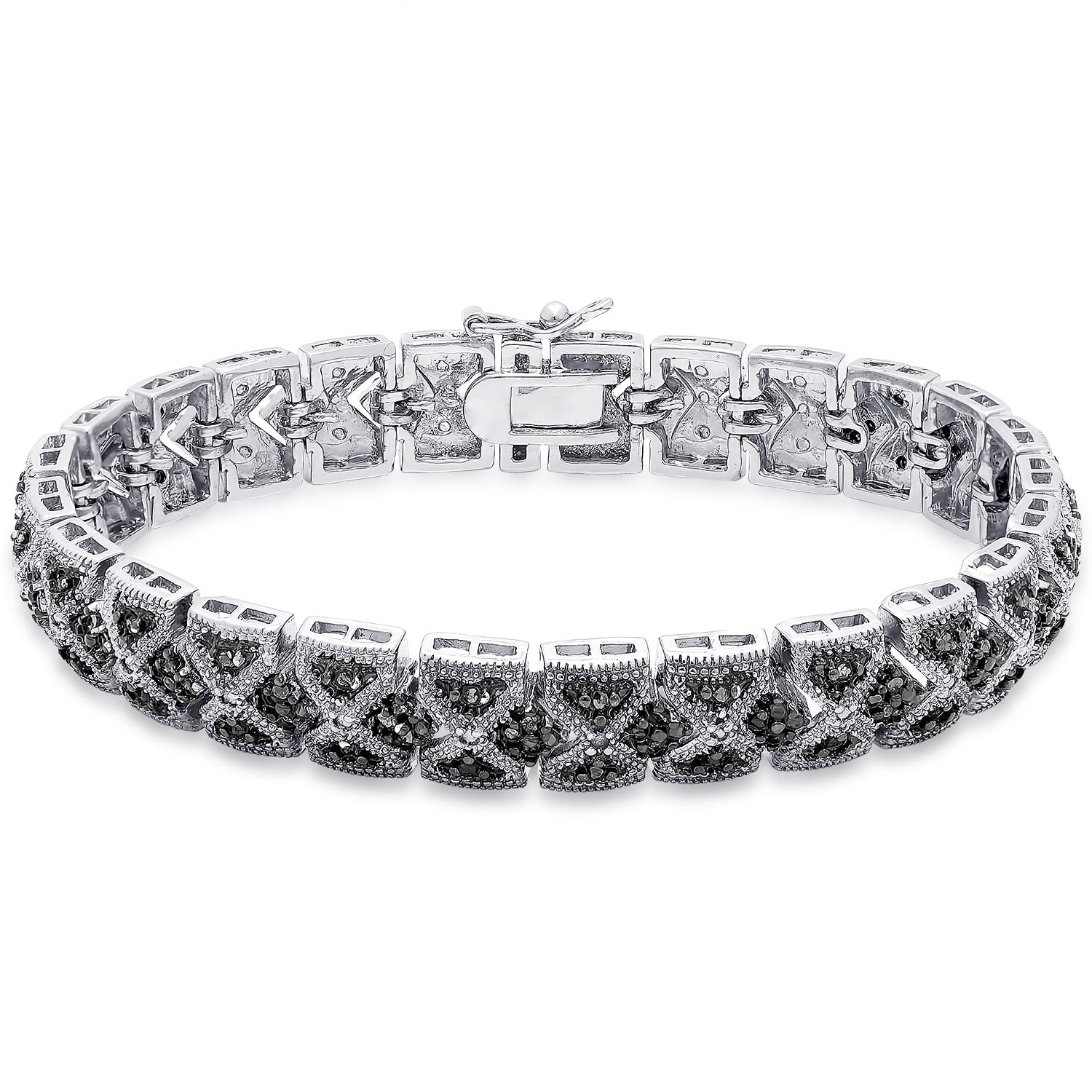 tennis bracelet photography jewelry diamond black carat stock