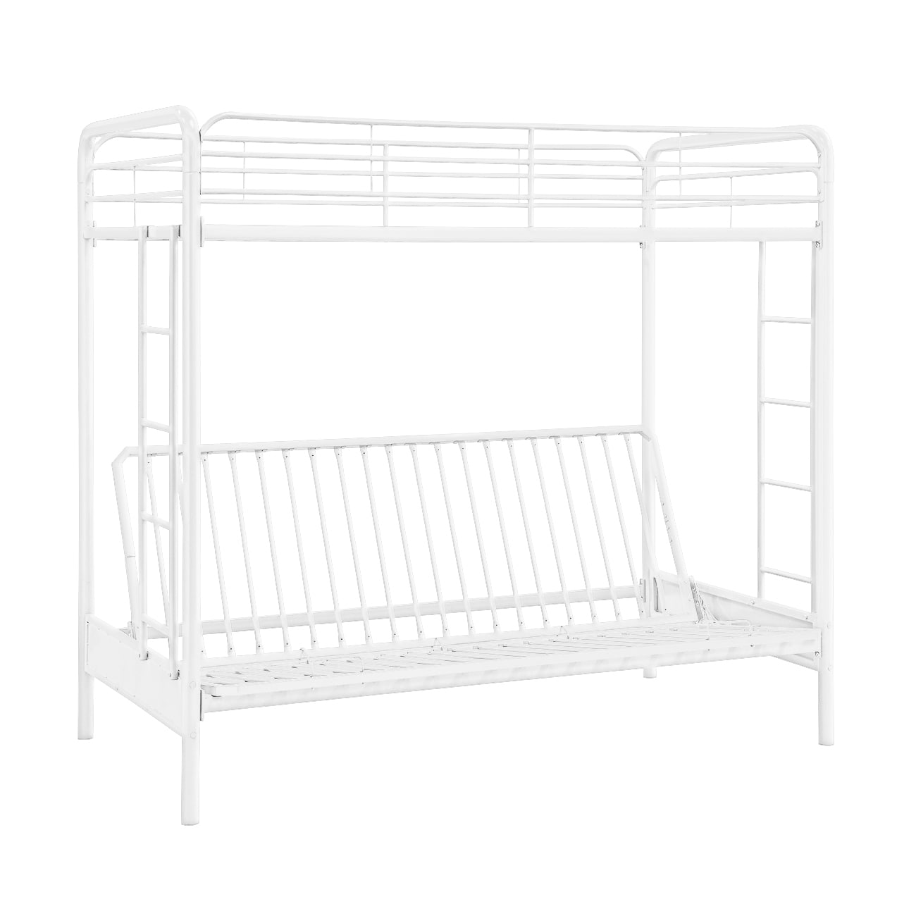 Dhp Twin Over Futon White Metal Bunk Bed Free Shipping Today Com 9751457