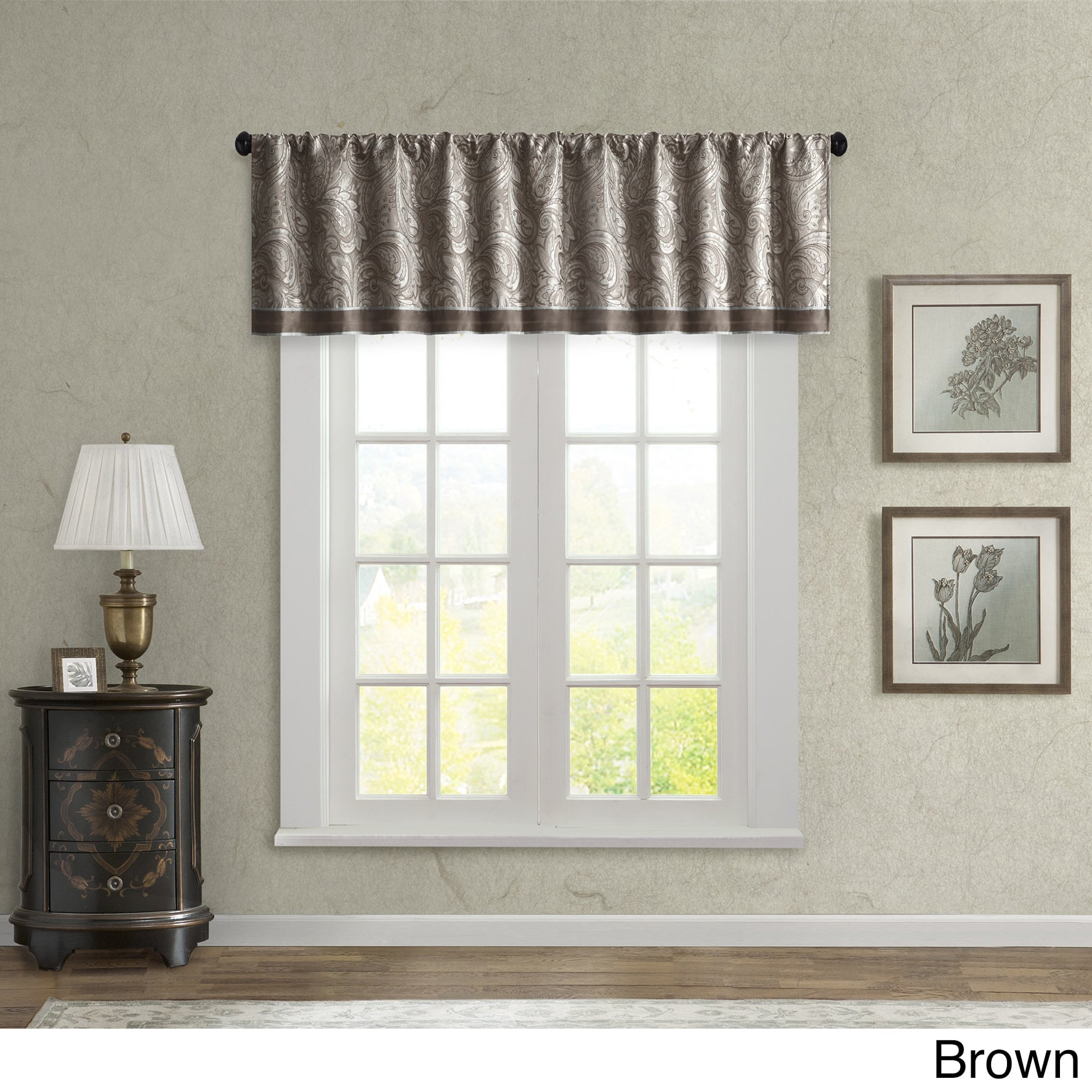 9a05ae403a56 Shop Madison Park Whitman Jacquard Valance - Free Shipping On Orders Over   45 - Overstock - 9752340