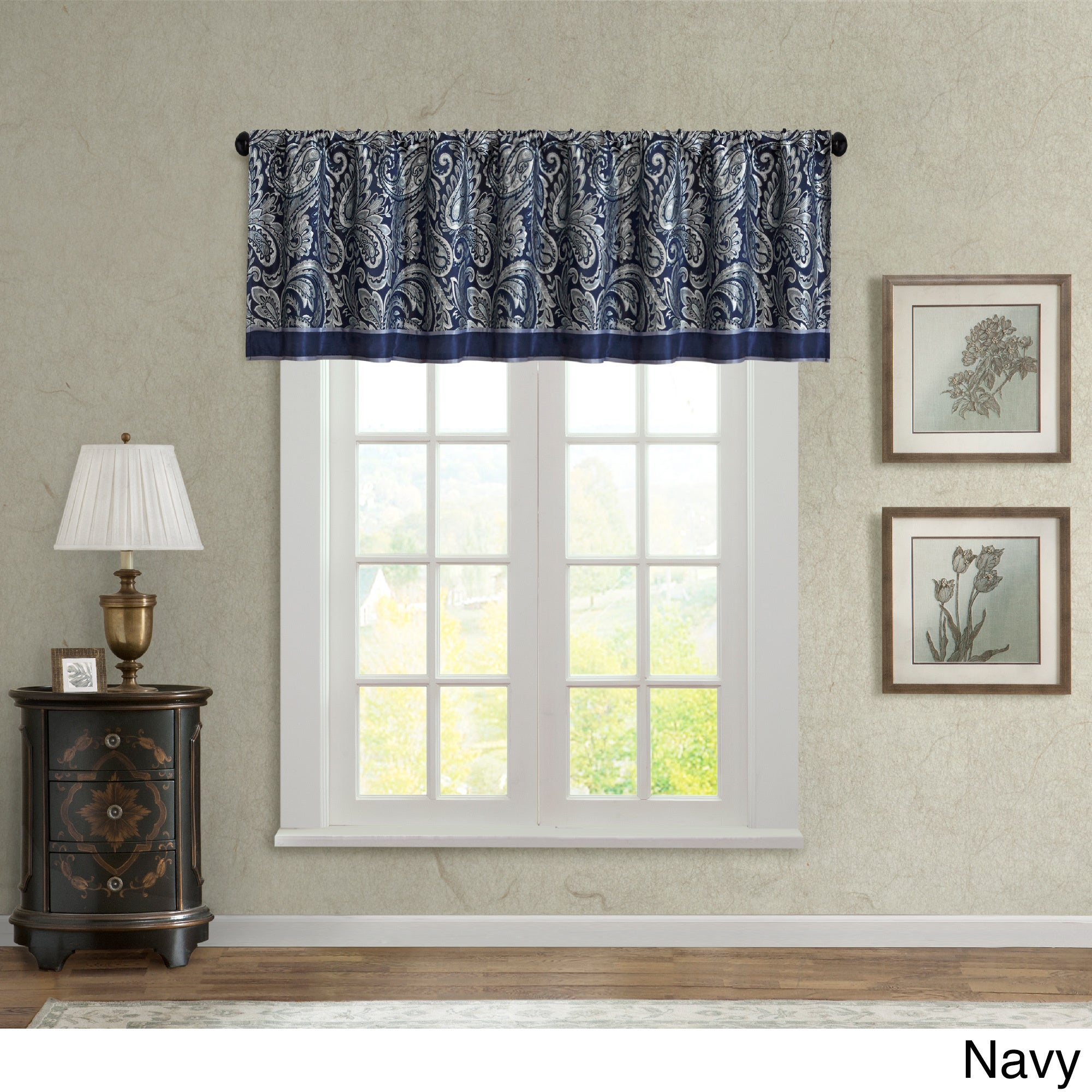 Madison Park Whitman Jacquard Valance Free Shipping On Orders Over 45 9752340