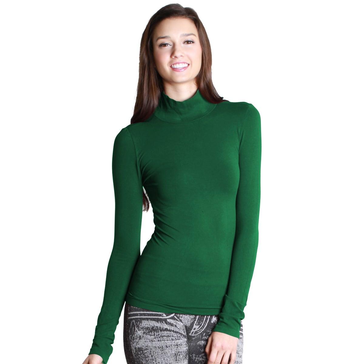 99b1aa08547b45 Shop Nikibiki Women s Seamless Long-Sleeve Mock Neck Top - Free Shipping On  Orders Over  45 - Overstock - 9753197