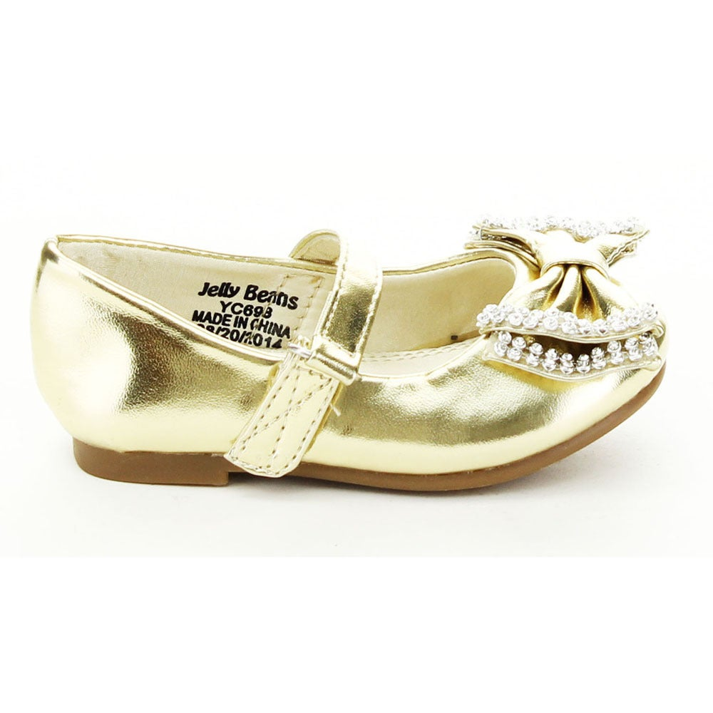 e6692a17596c Shop Jelly Beans Toddler Girls   YOYOMA  Glitter Bow Ballet Flats - Free  Shipping On Orders Over  45 - Overstock - 9753633