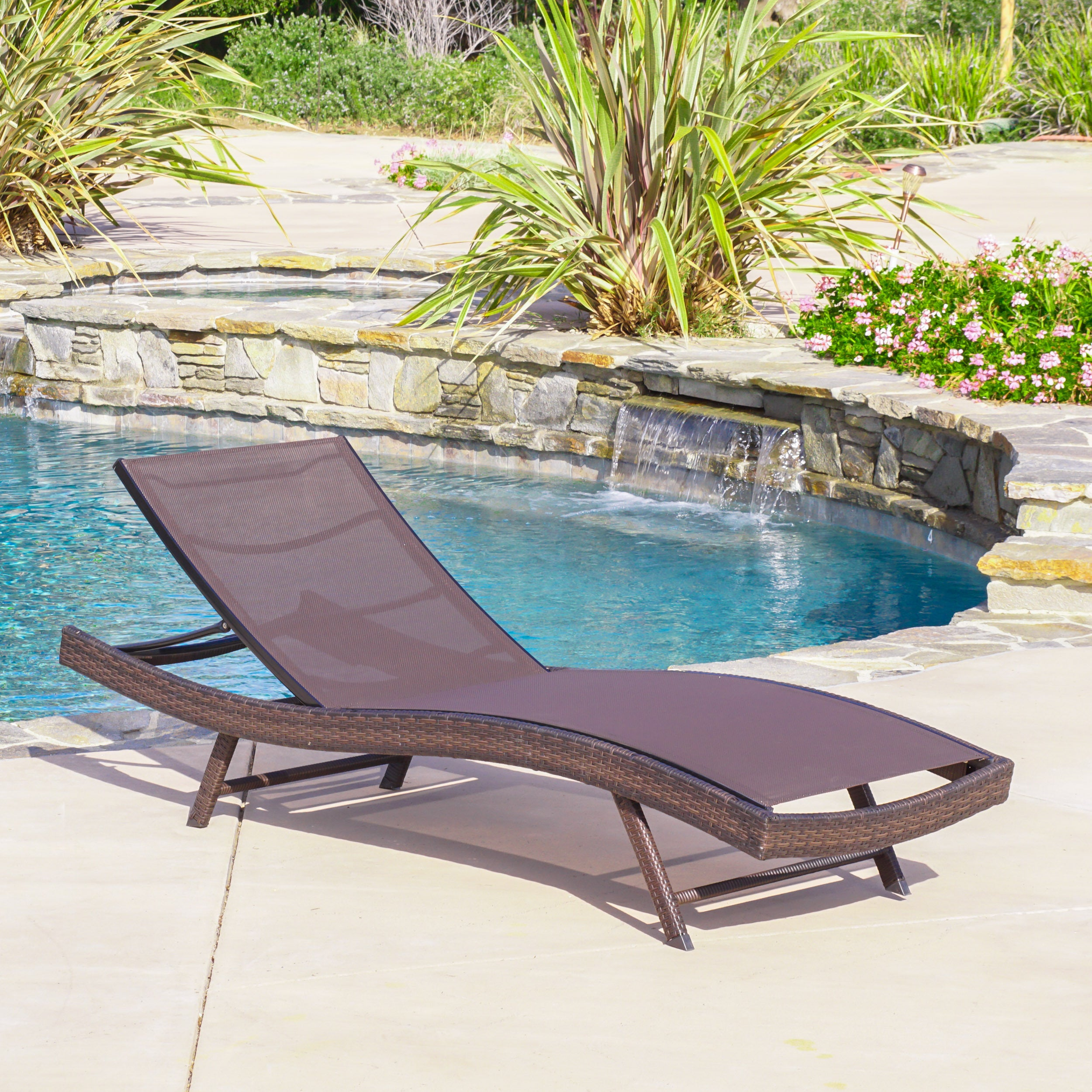 Kauai outdoor chaise lounge by christopher knight home
