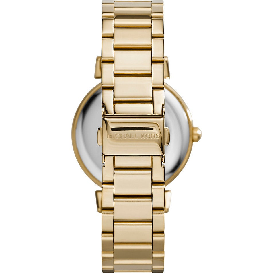 9198c69967bd Shop Michael Kors Women s MK3332  Catlin  Crystal-set Mother of Pearl Dial  Gold-plated Watch - Free Shipping Today - Overstock - 9756017