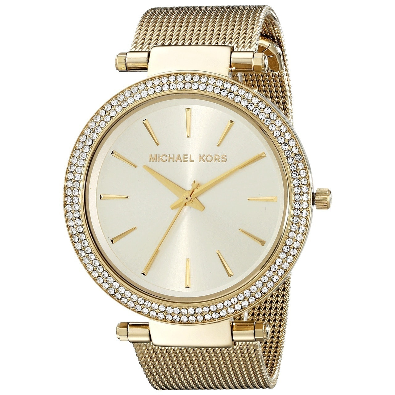 5dc2f839c8ca Shop Michael Kors Women s MK3368  Darci  Goldtone Stainless Steel Watch -  Free Shipping Today - Overstock - 9756021