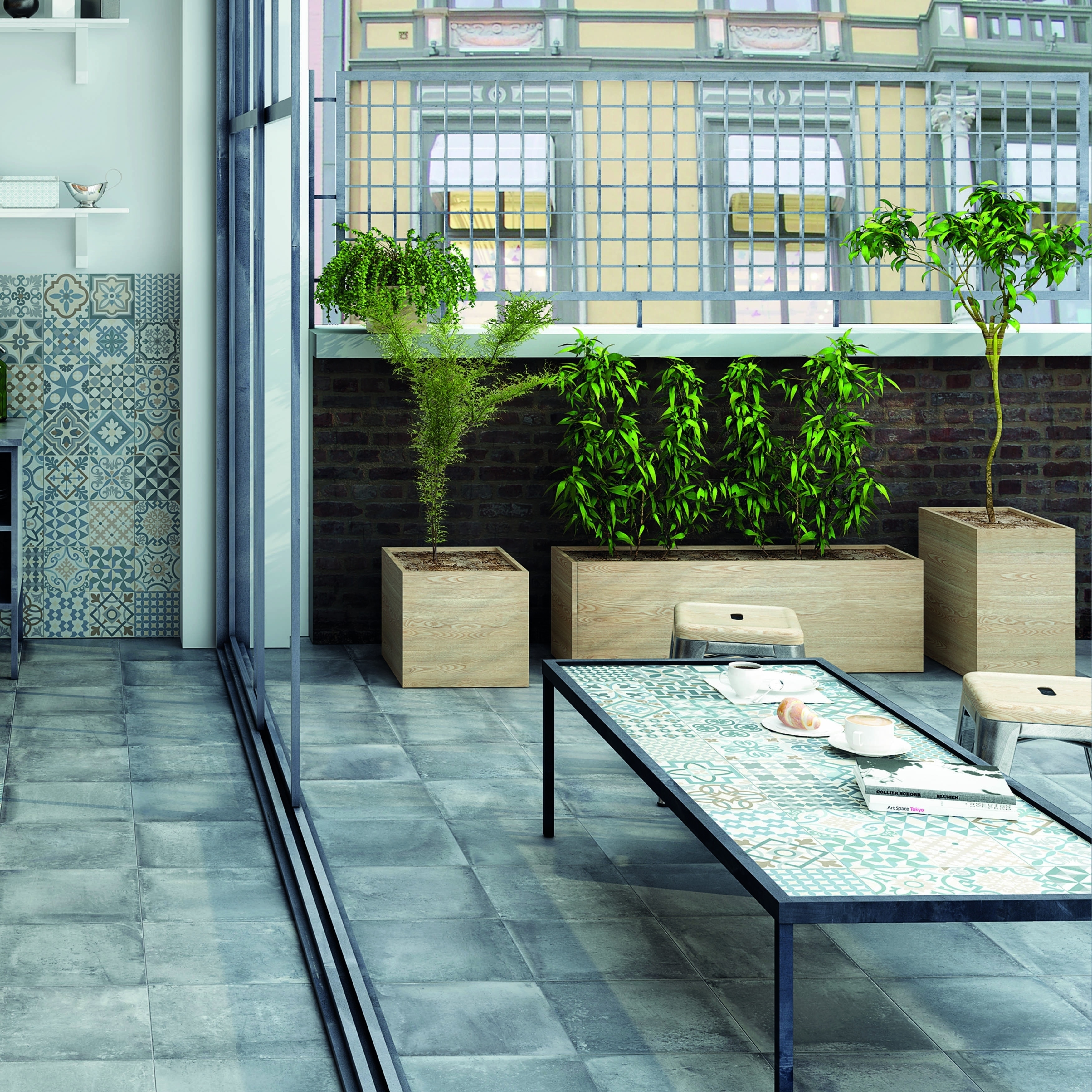Shop SomerTile 13x13-inch Rustique Gris Porcelain Floor and Wall ...