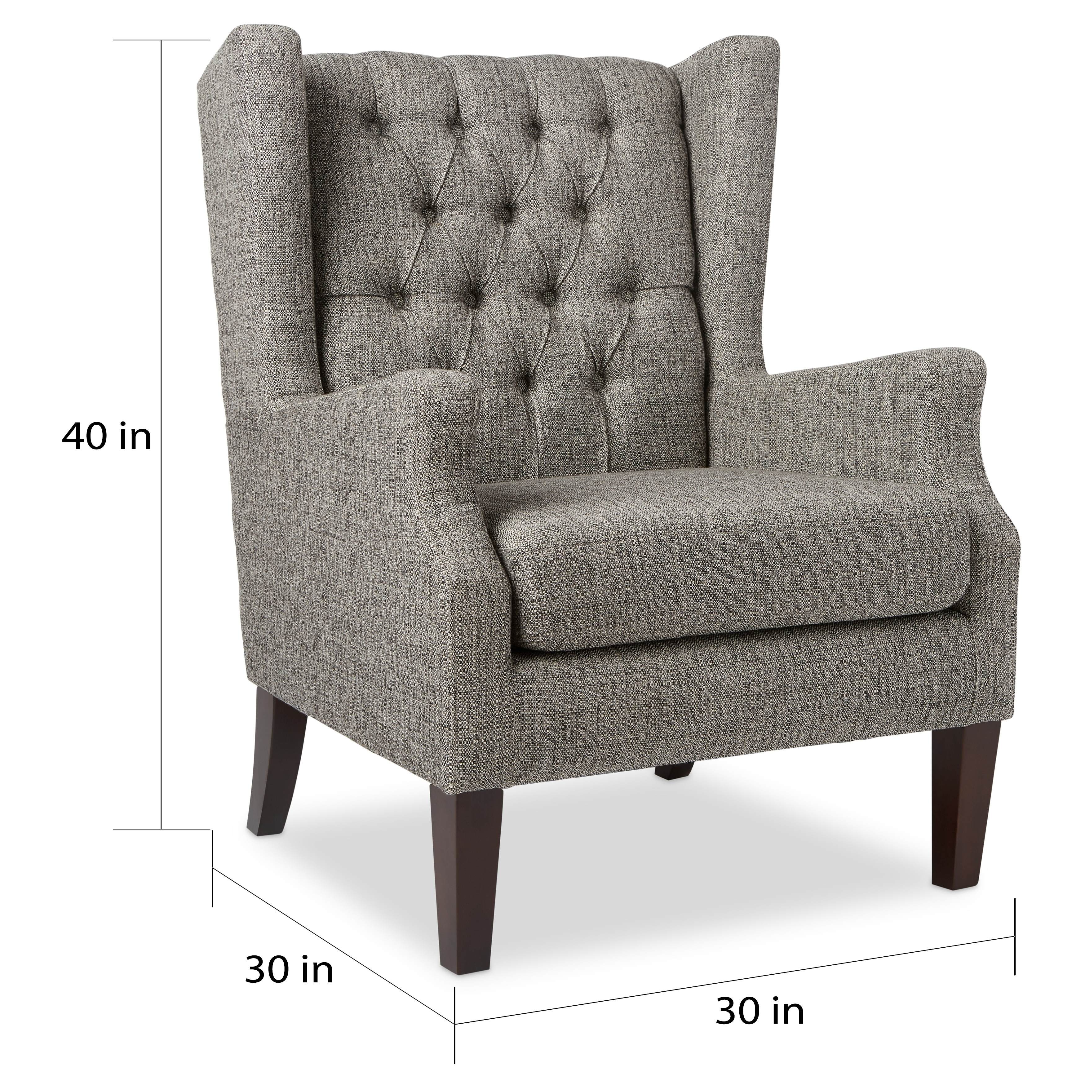 Shop copper grove maxwell grey tufted wingback chair free shipping today overstock com 9759057