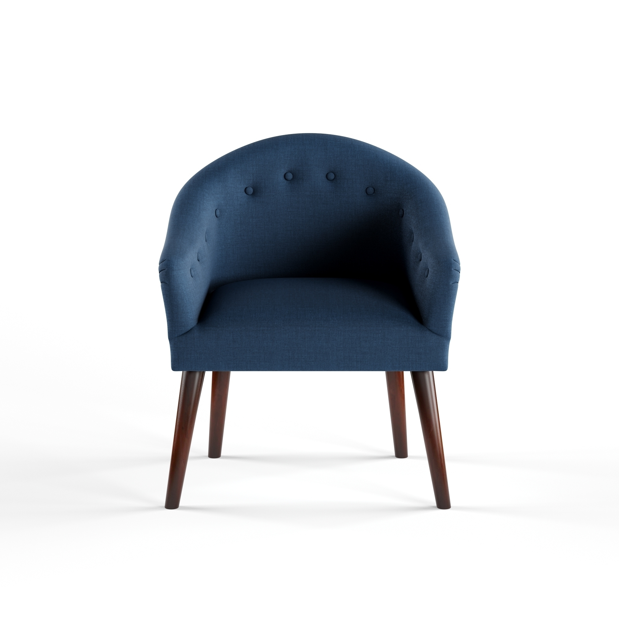 Shop Carson Carrington Camilla Mid Century Navy Blue Accent Chair   Free  Shipping Today   Overstock.com   9759061