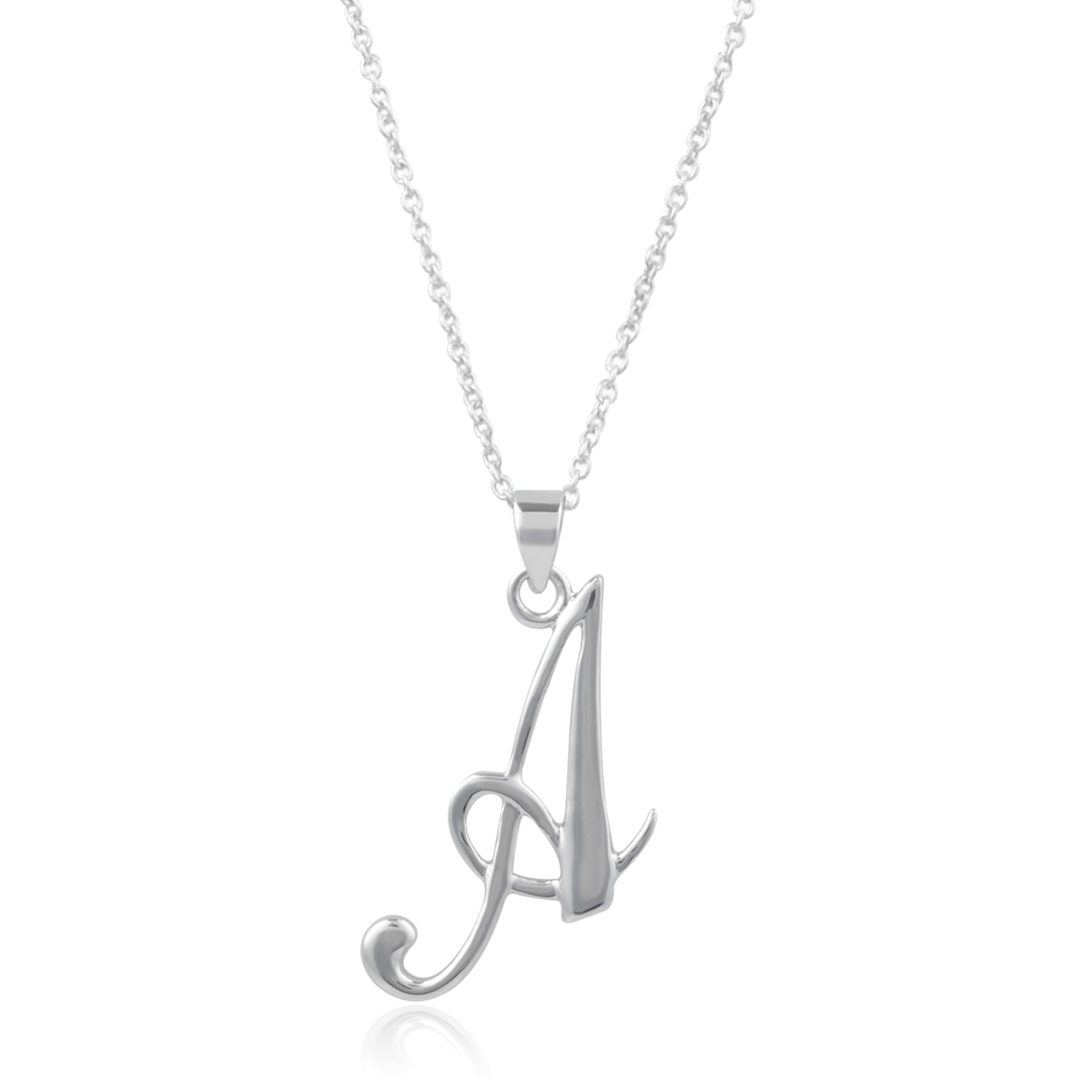 product on chain necklace g letter silver quot pendant original over rhodium cable sterling script love
