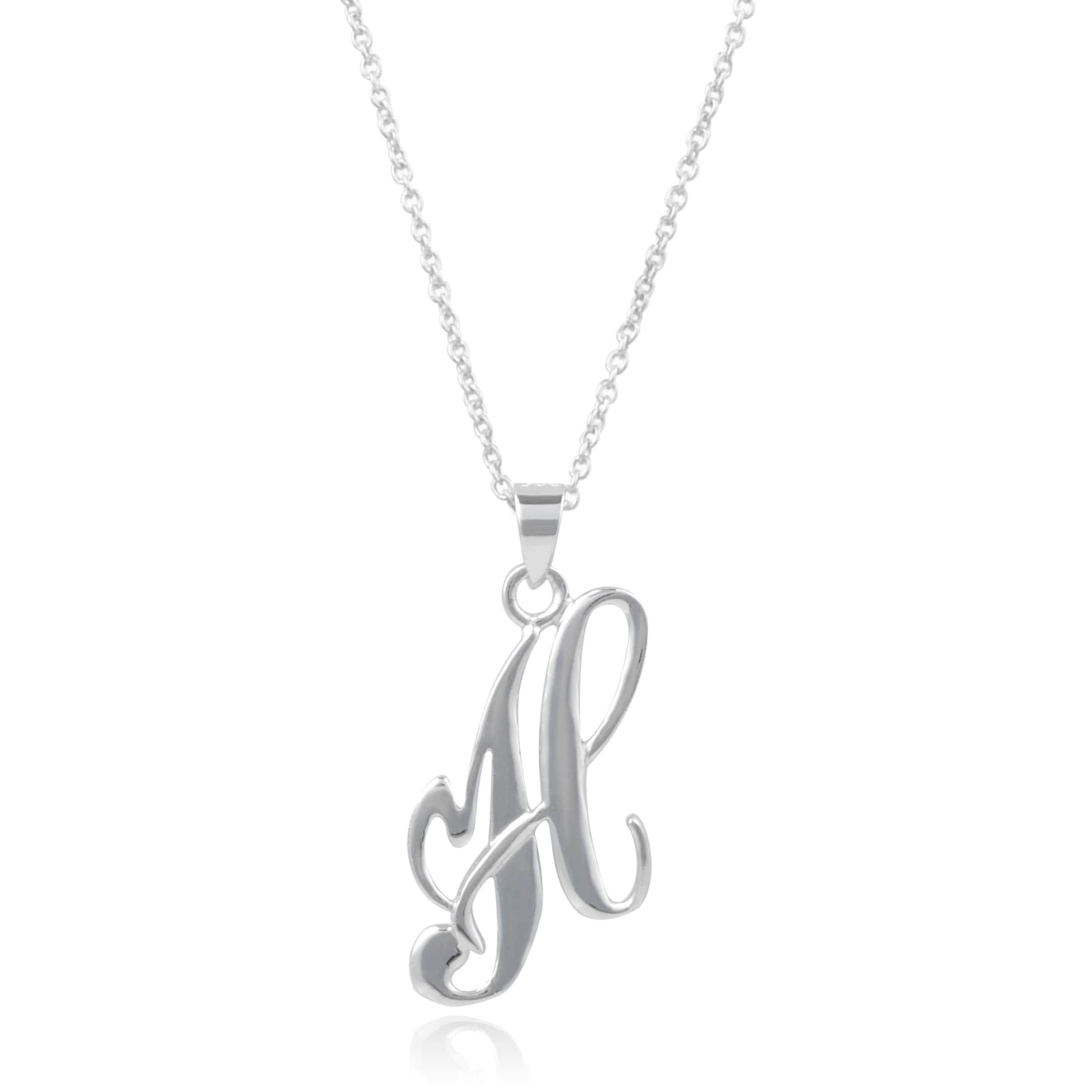 Sterling silver initial letter pendant necklace 18l free sterling silver initial letter pendant necklace 18l free shipping on orders over 45 overstock 16933080 aloadofball Gallery