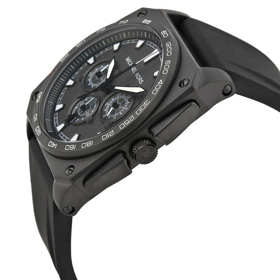614117952dd6 Shop Michael Kors Men s Grandstand MK8390 Black Silicone Quartz Watch -  Free Shipping Today - Overstock - 9761892