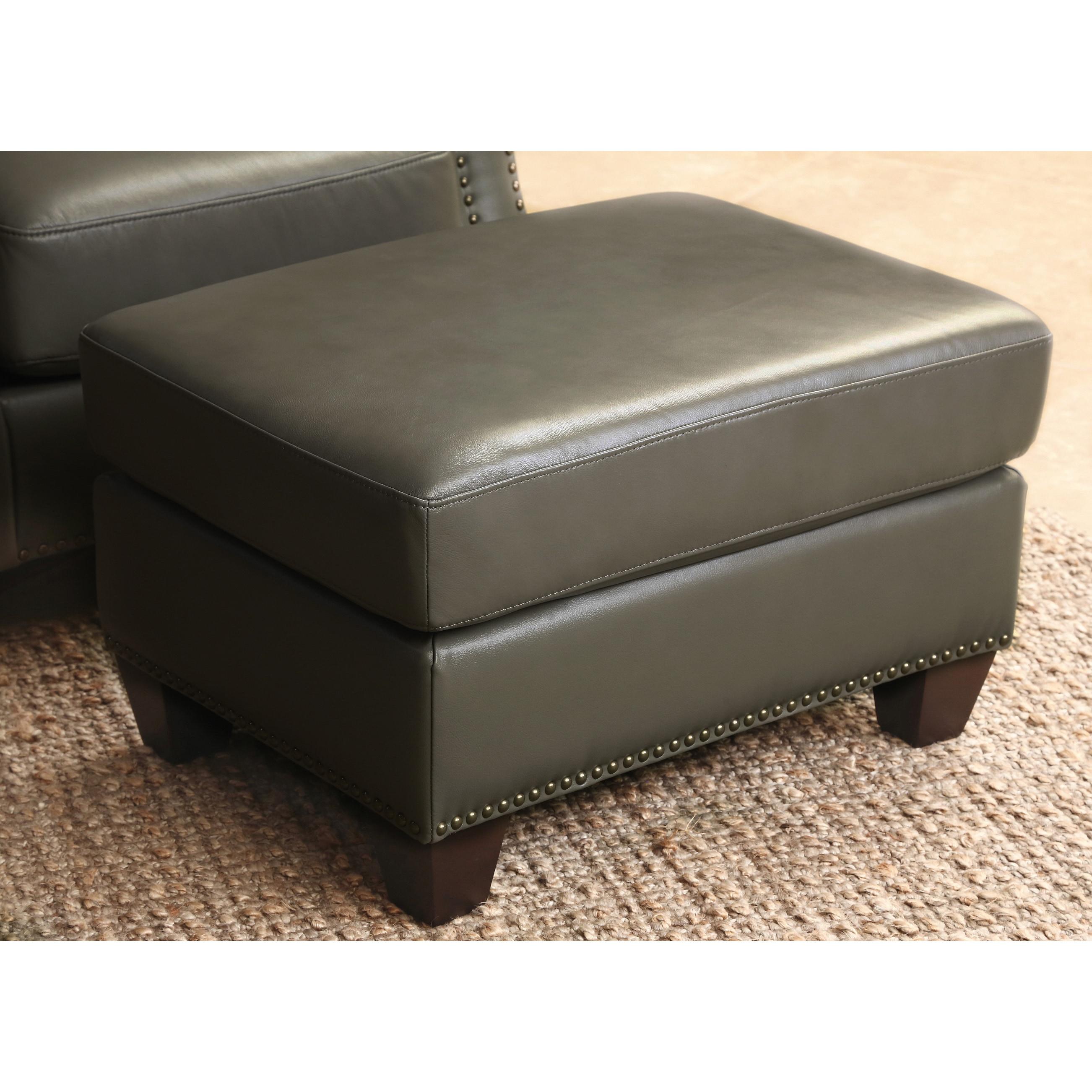 Best Abbyson Landon Top Grain Leather 4 Piece Living Room Set - Free  JB31