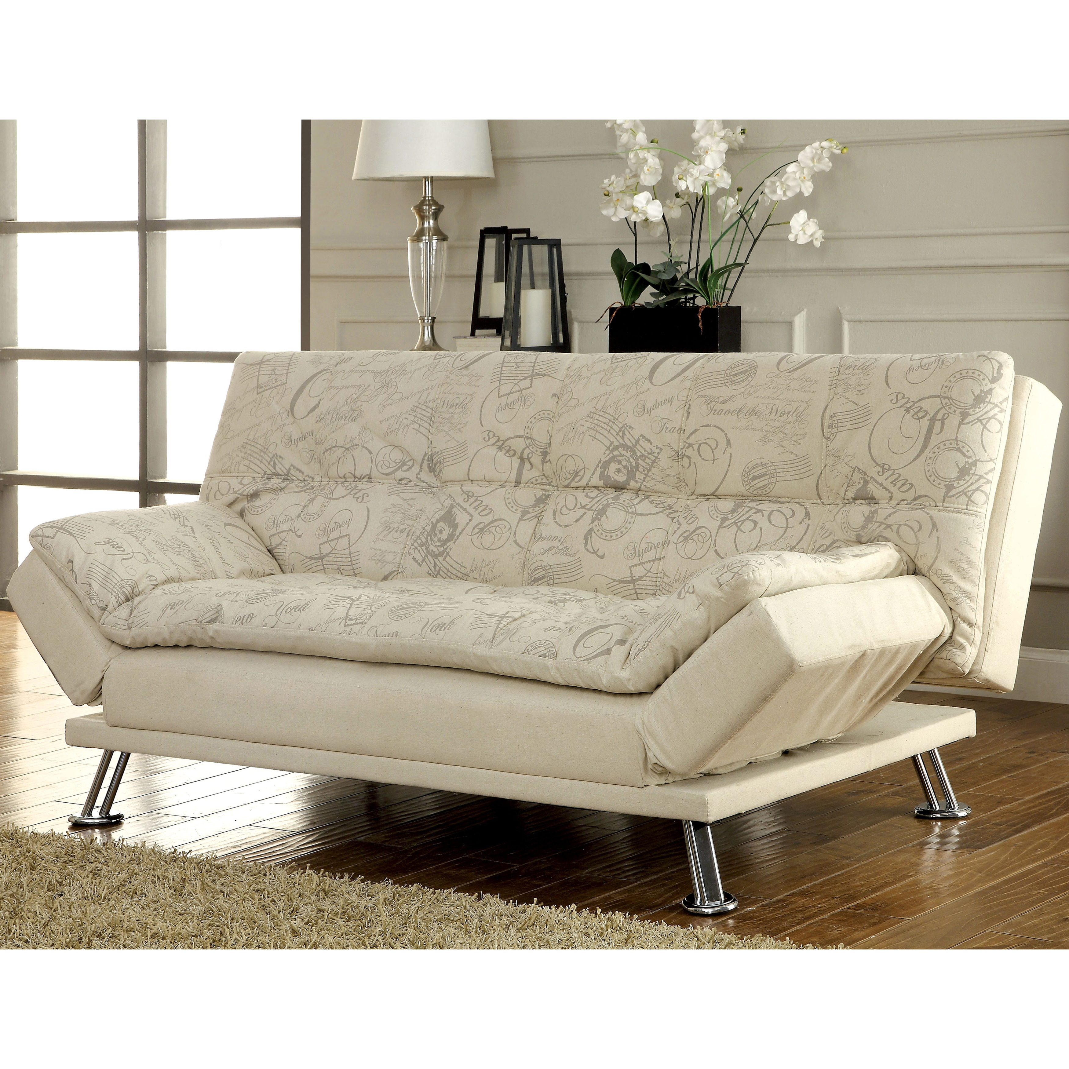 Furniture of America Aubreth Modern Futon Sofa Free Shipping