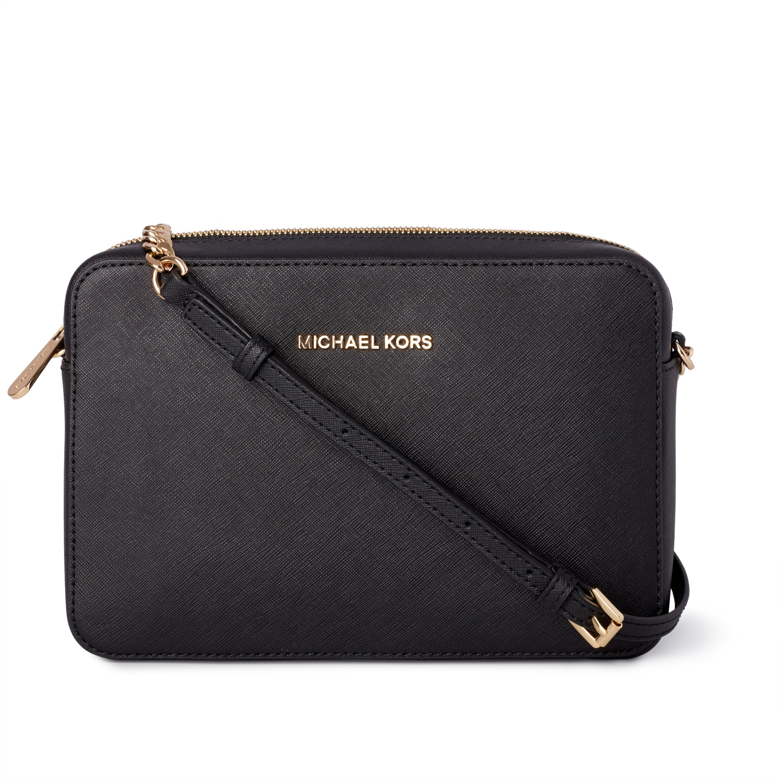 c76158c25722 Shop Michael Kors Jet Set Travel Large East/ West Black Crossbody ...