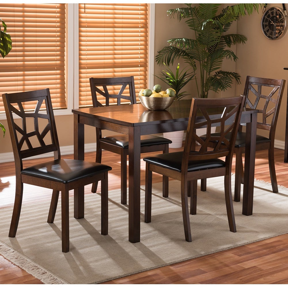 Baxton Studio Lucy 5 Piece Modern Dining Set   Free Shipping Today    Overstock   16936176