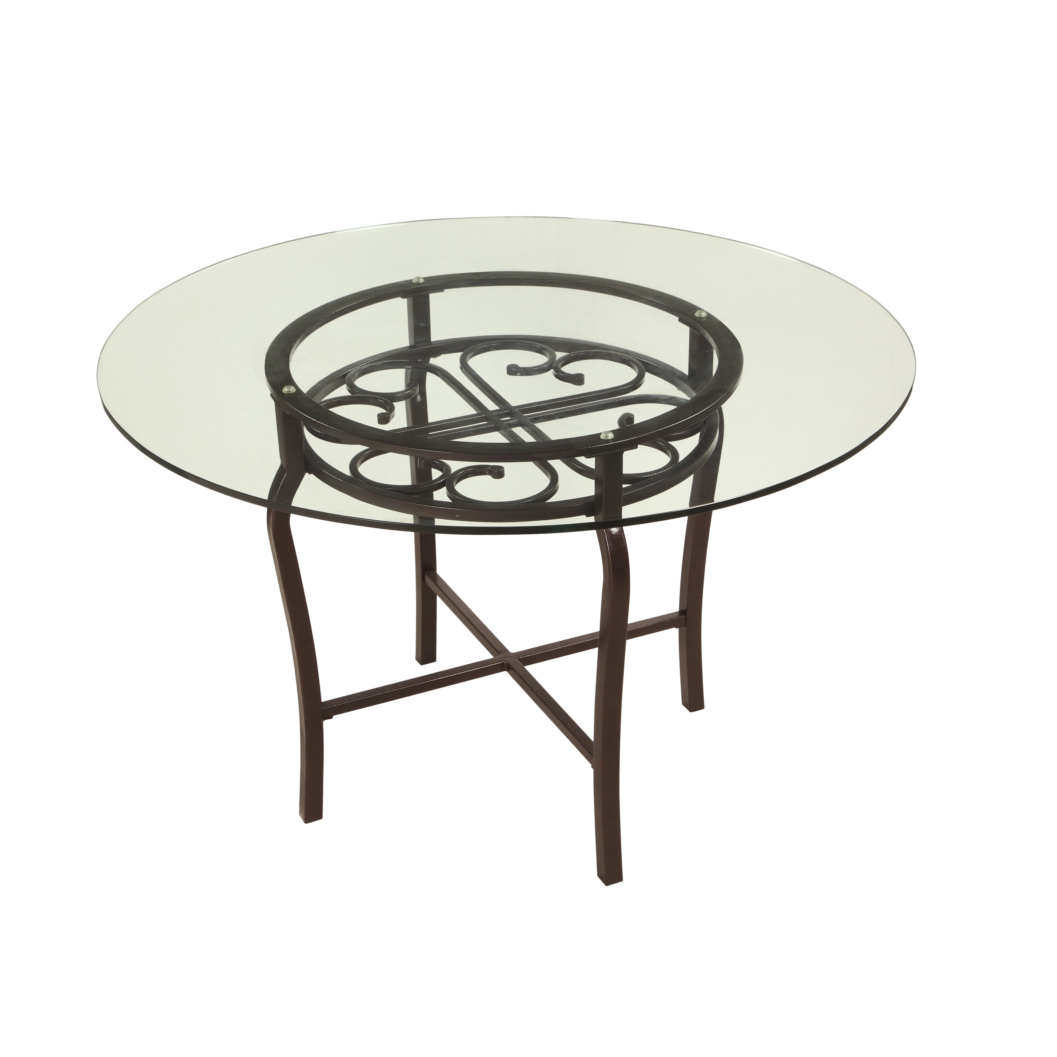 Shop Somette Lizzy Brown Glass Traditional Dining Table Grey