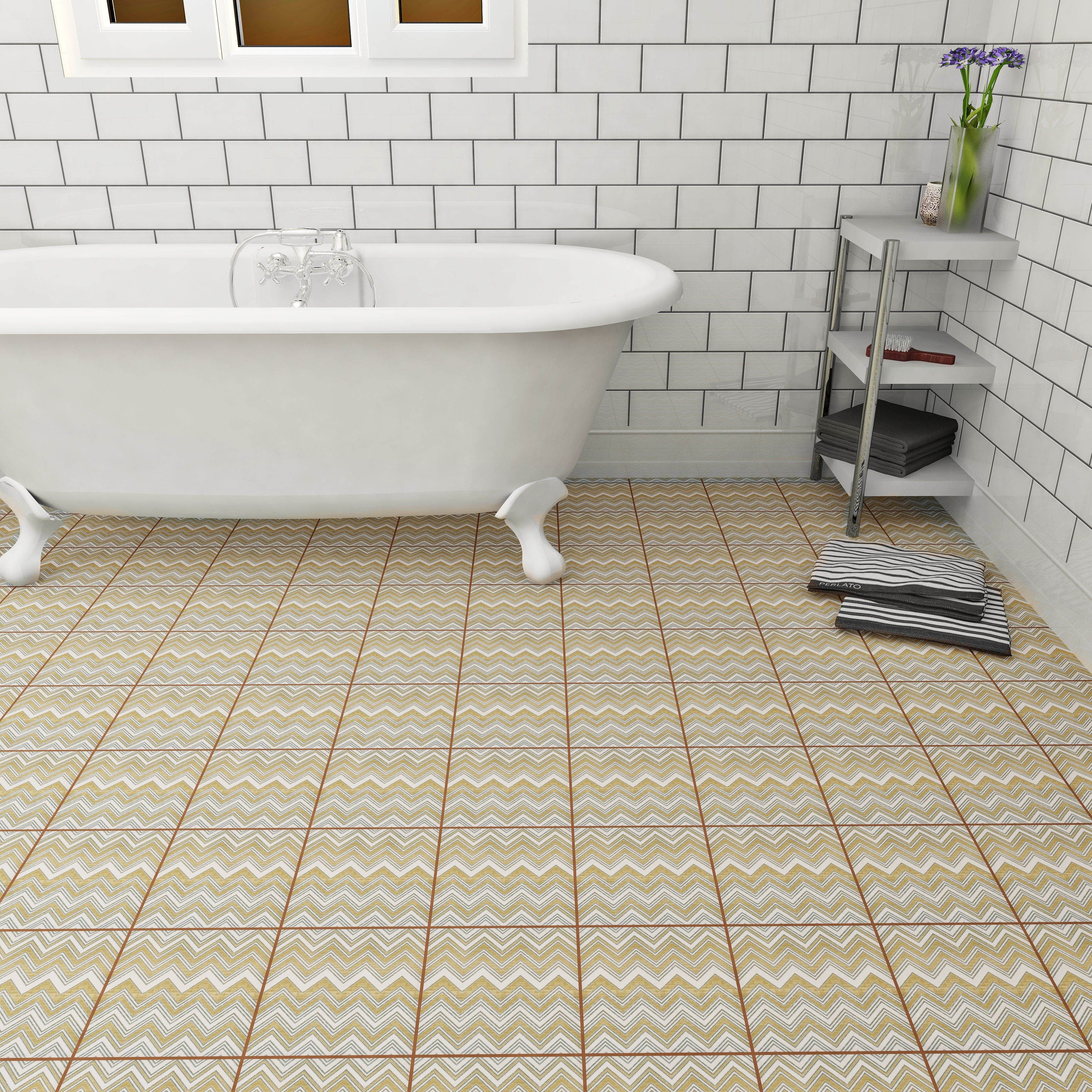 SomerTile 7.75x7.75-inch Puccini Wave Ceramic Floor and Wall Tile ...