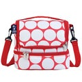 Wildkin Big White Dot/ Red Double Decker Lunch Bag