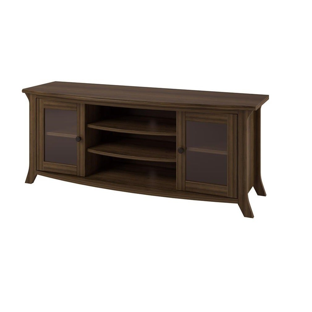 Shop Ameriwood Home Oakridge Entertainment Stand With Glass Doors   N/a    On Sale   Free Shipping Today   Overstock.com   9767405