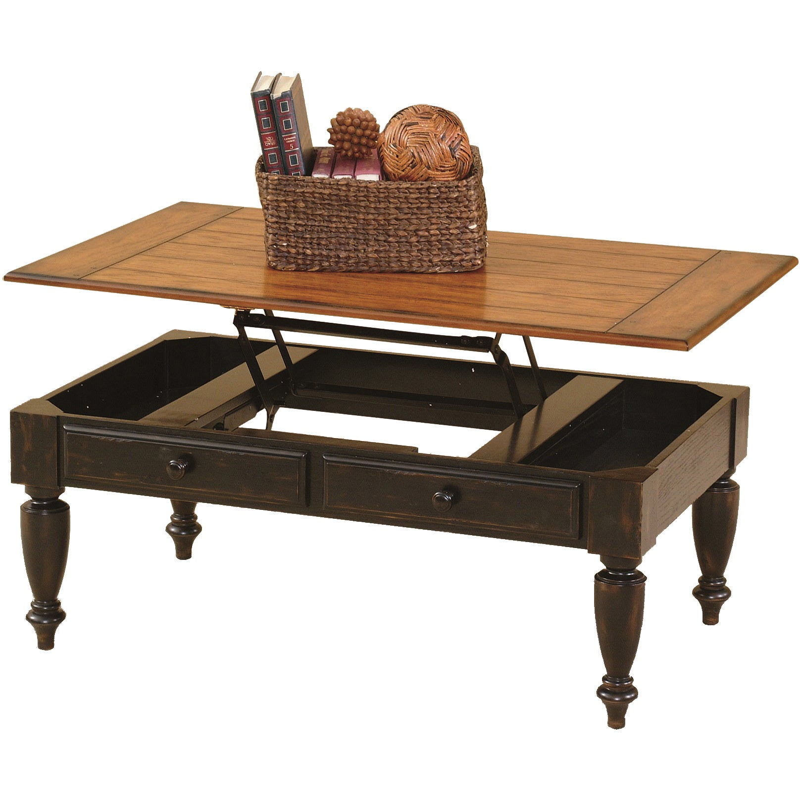 Shop Country Vista Antique Black/ Oak Lift Top Cocktail Table   Free  Shipping Today   Overstock.com   9769603