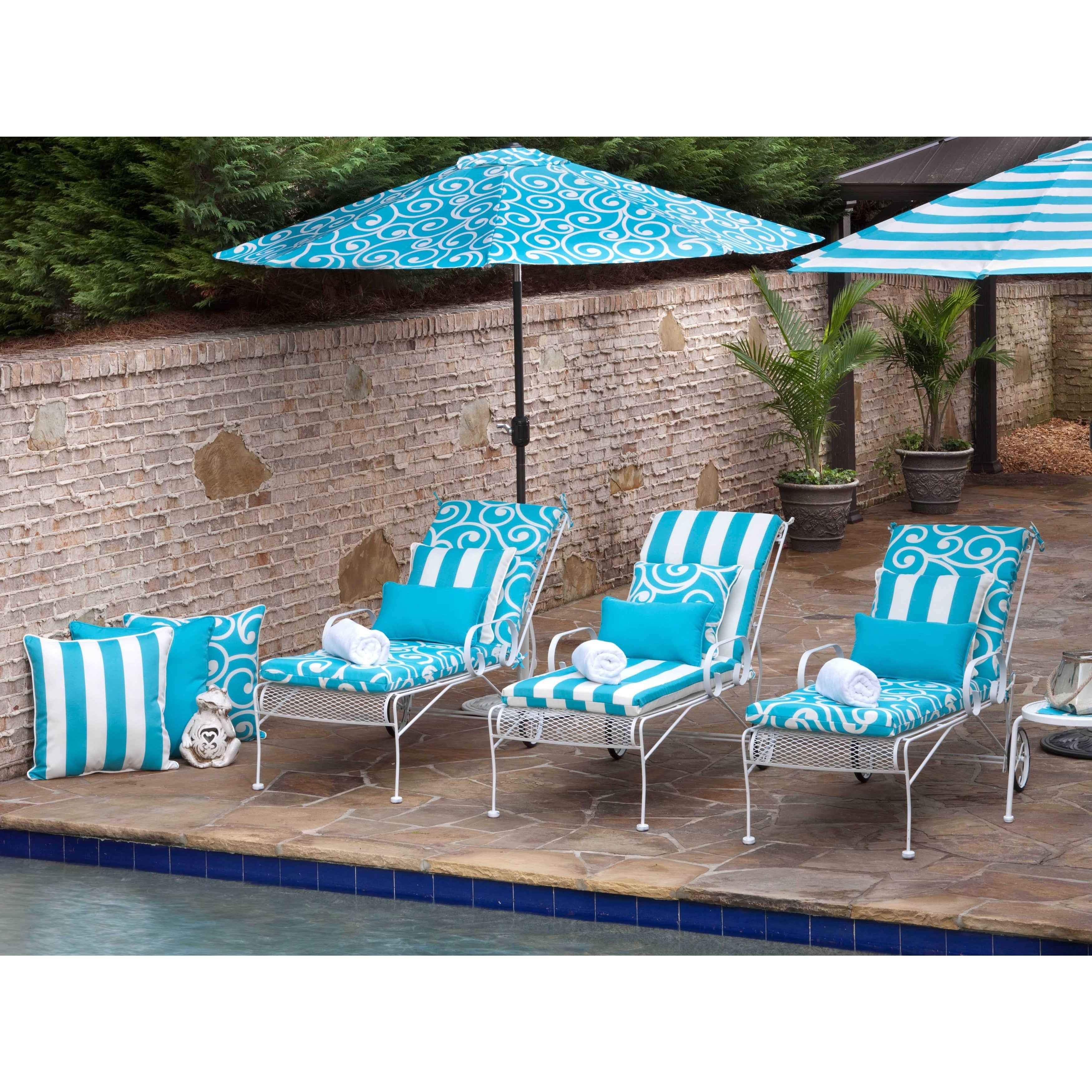 seat sunbrella furniture deep decoration turquoise outdoor patio protect home cushions