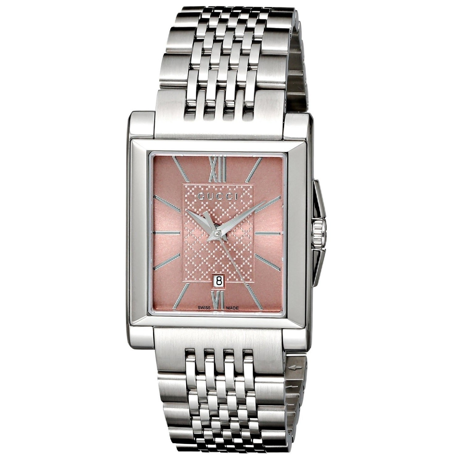 94a82f62815 Shop Gucci Women s YA138502  G-Timeless  Rectangle Swiss Quartz Stainless Steel  Watch - Free Shipping Today - Overstock - 9772566