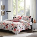 Intelligent Design Alicia Pink Geometric 5-Piece Duvet Cover Set