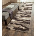 Safavieh Camouflage Shag Beige/ Multicolored Runner (2'3 x 7')
