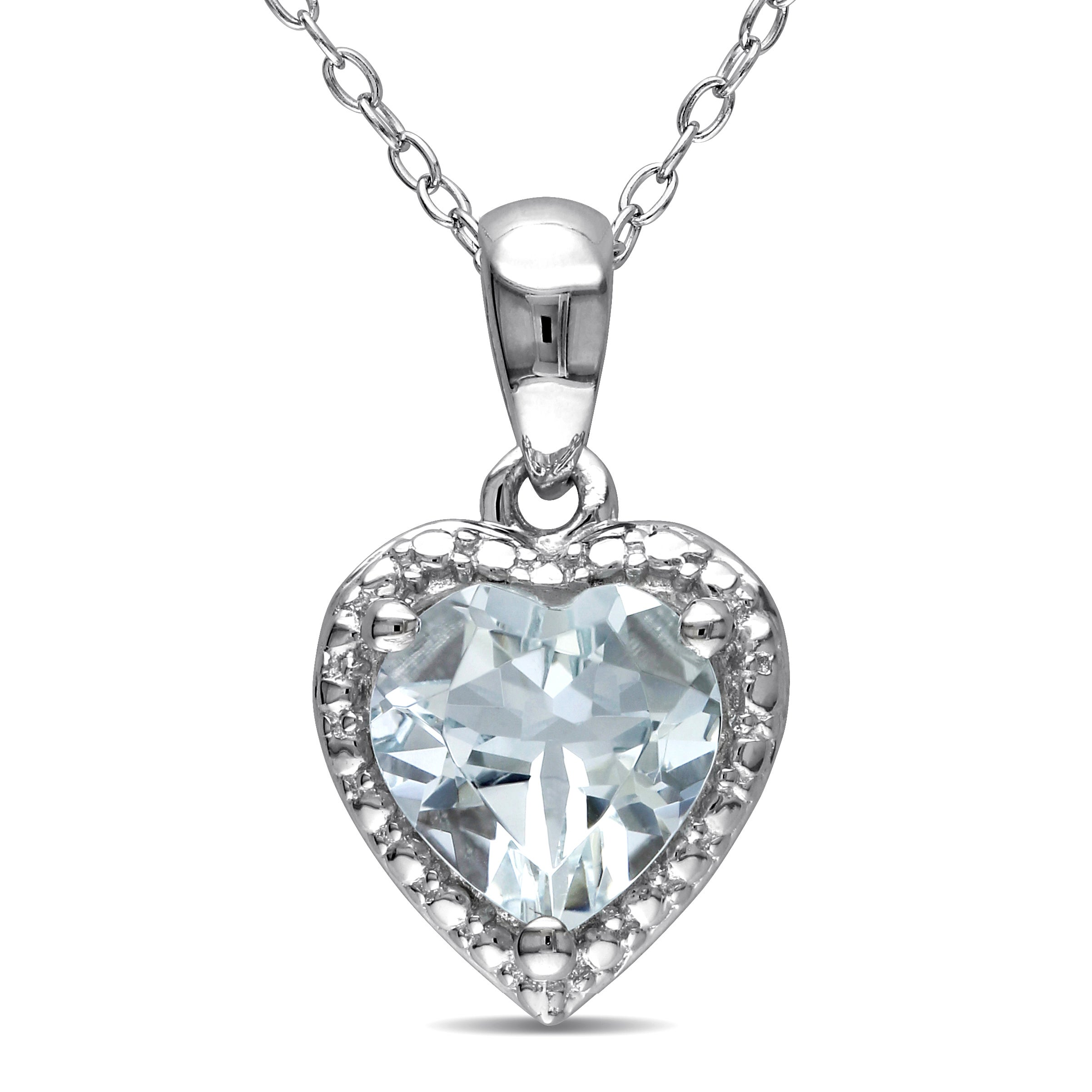 Shop miadora sterling silver aquamarine heart necklace free shop miadora sterling silver aquamarine heart necklace free shipping today overstock 9776820 aloadofball Gallery
