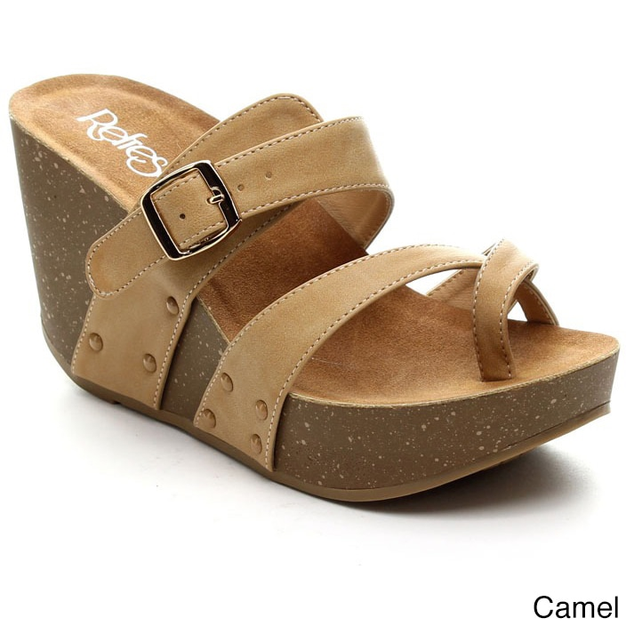 Refresh MARA-01 Women's Slide-on Criss Cross Platform Wedge Sandals - Free  Shipping On Orders Over $45 - Overstock.com - 16953820