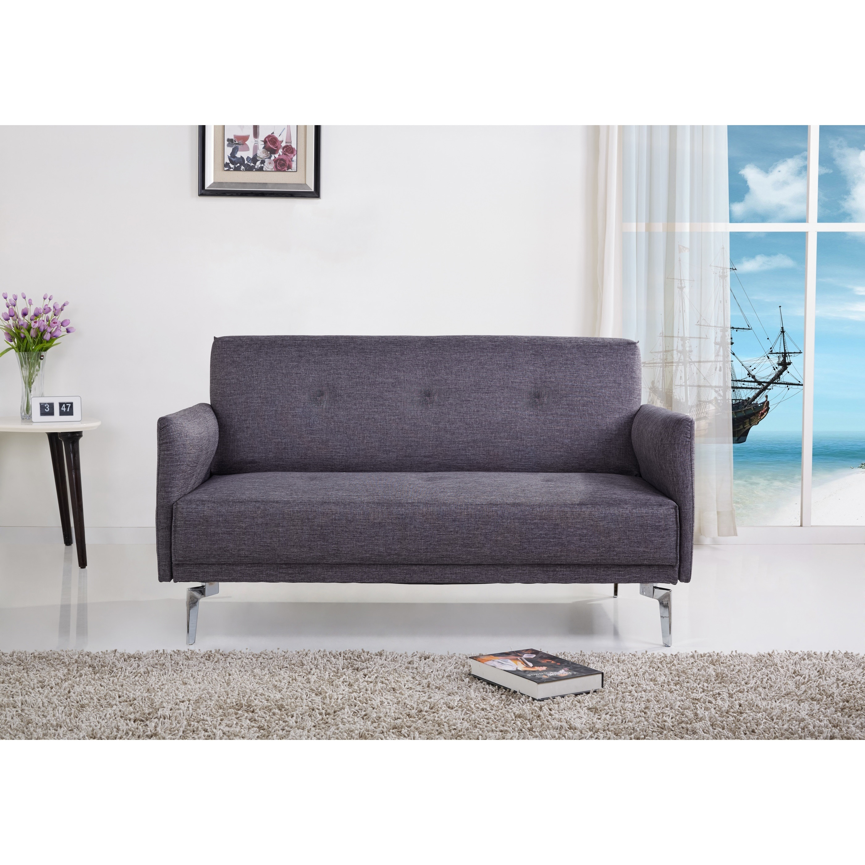 Shop Emma Fabric Modern Loveseat   Free Shipping Today   Overstock.com    9785742